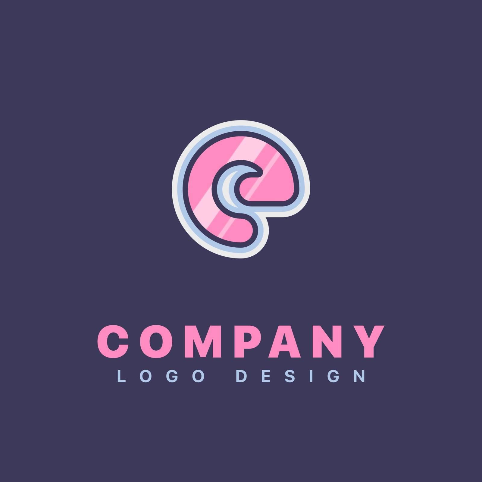 Letter E logo design template. Company logo icon