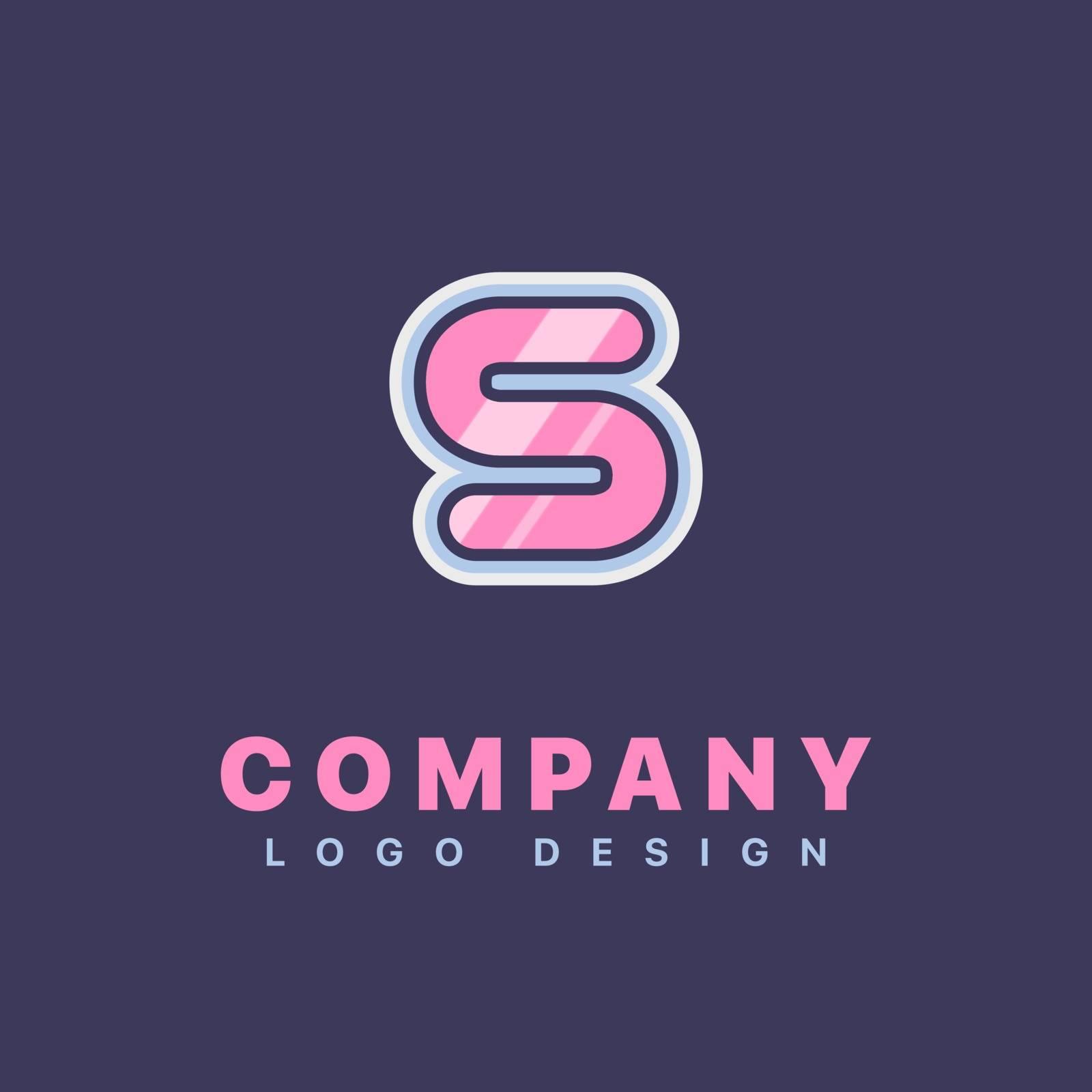 Letter S logo design template. Company logo icon