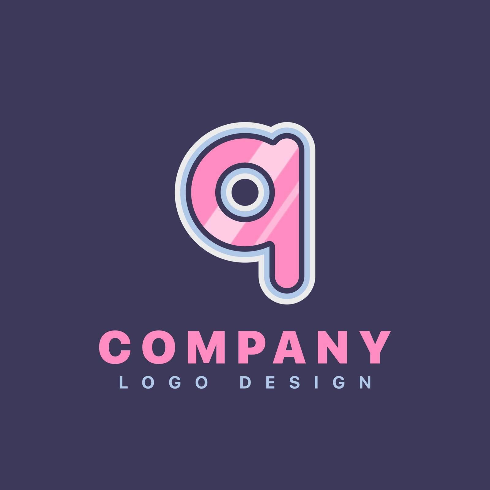 Letter Q logo design template. Company logo icon