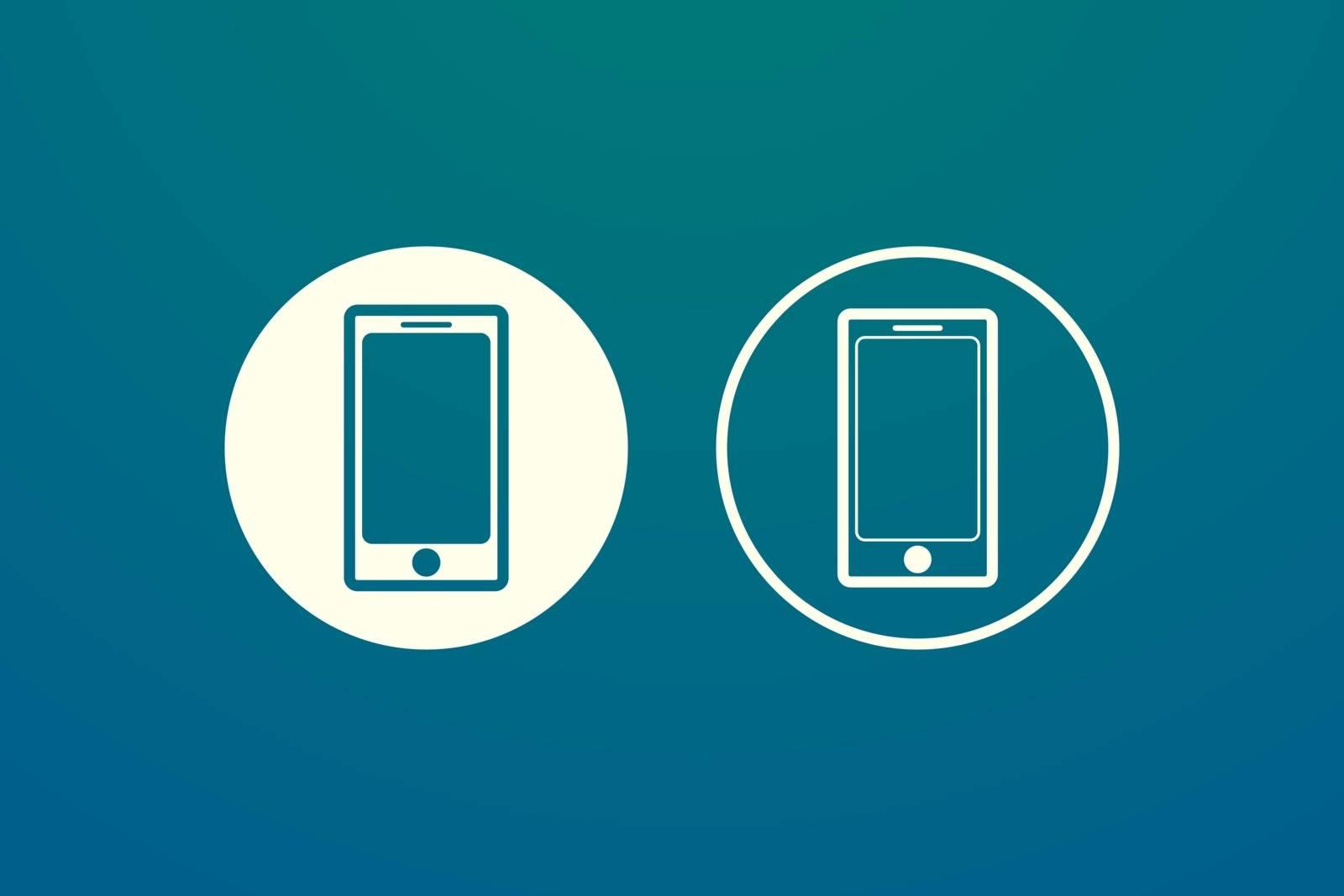 Mobile phone. Smartphone icon. Call icon