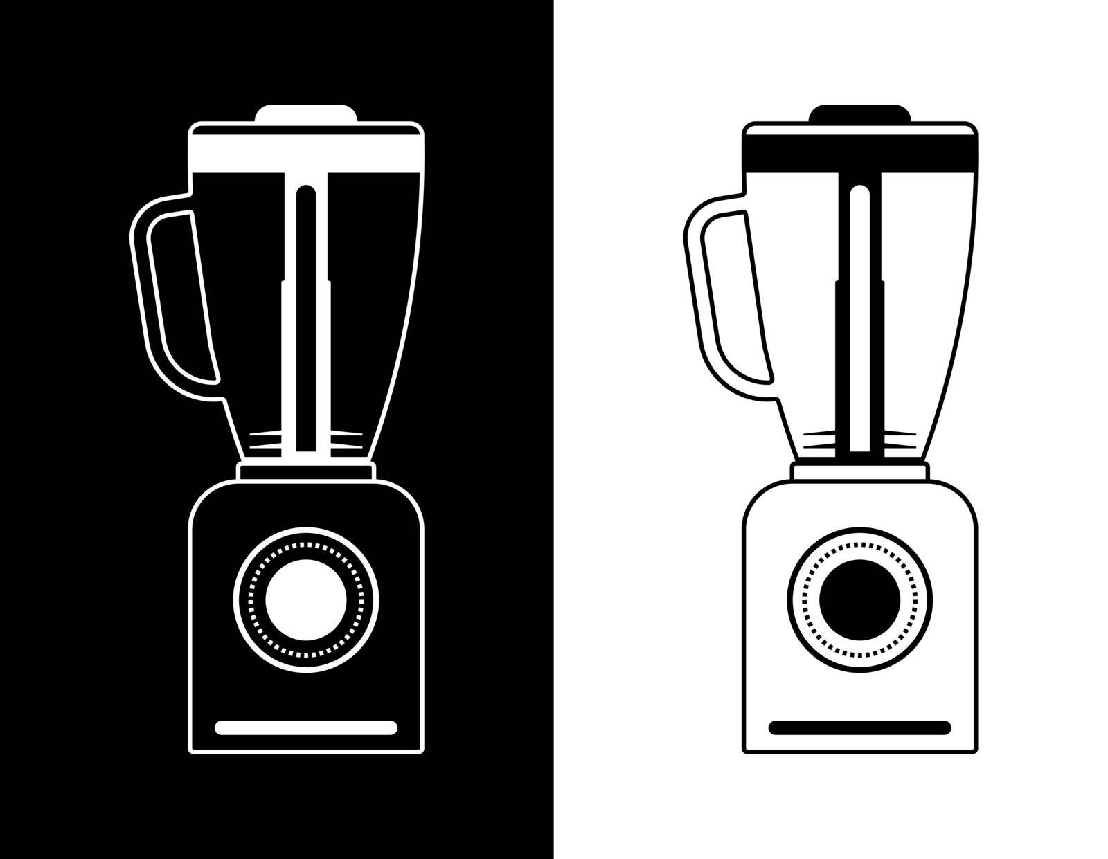 blender icon in a linear style on a black and white background. Isolated vector