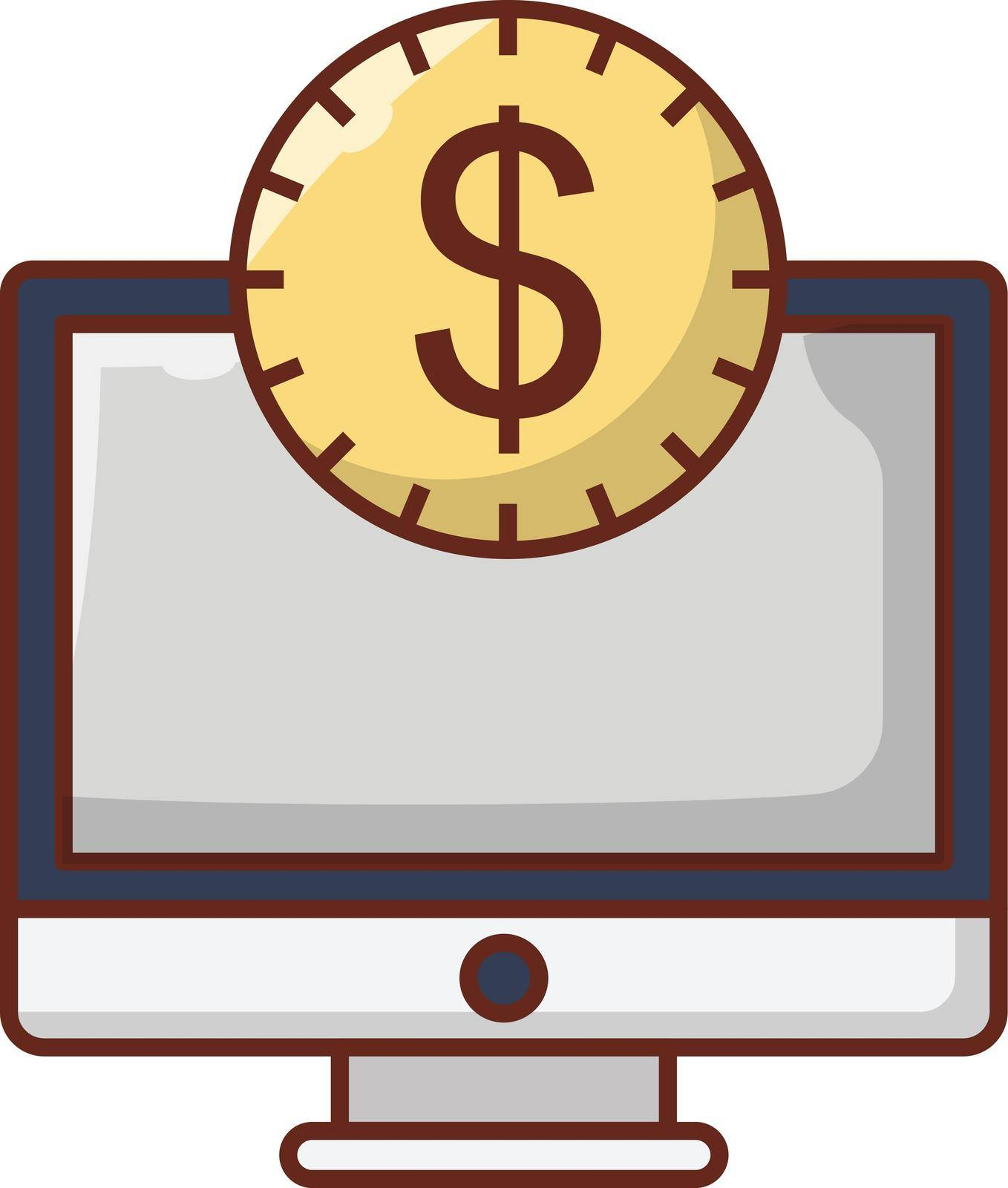 internet vector flat colour icon