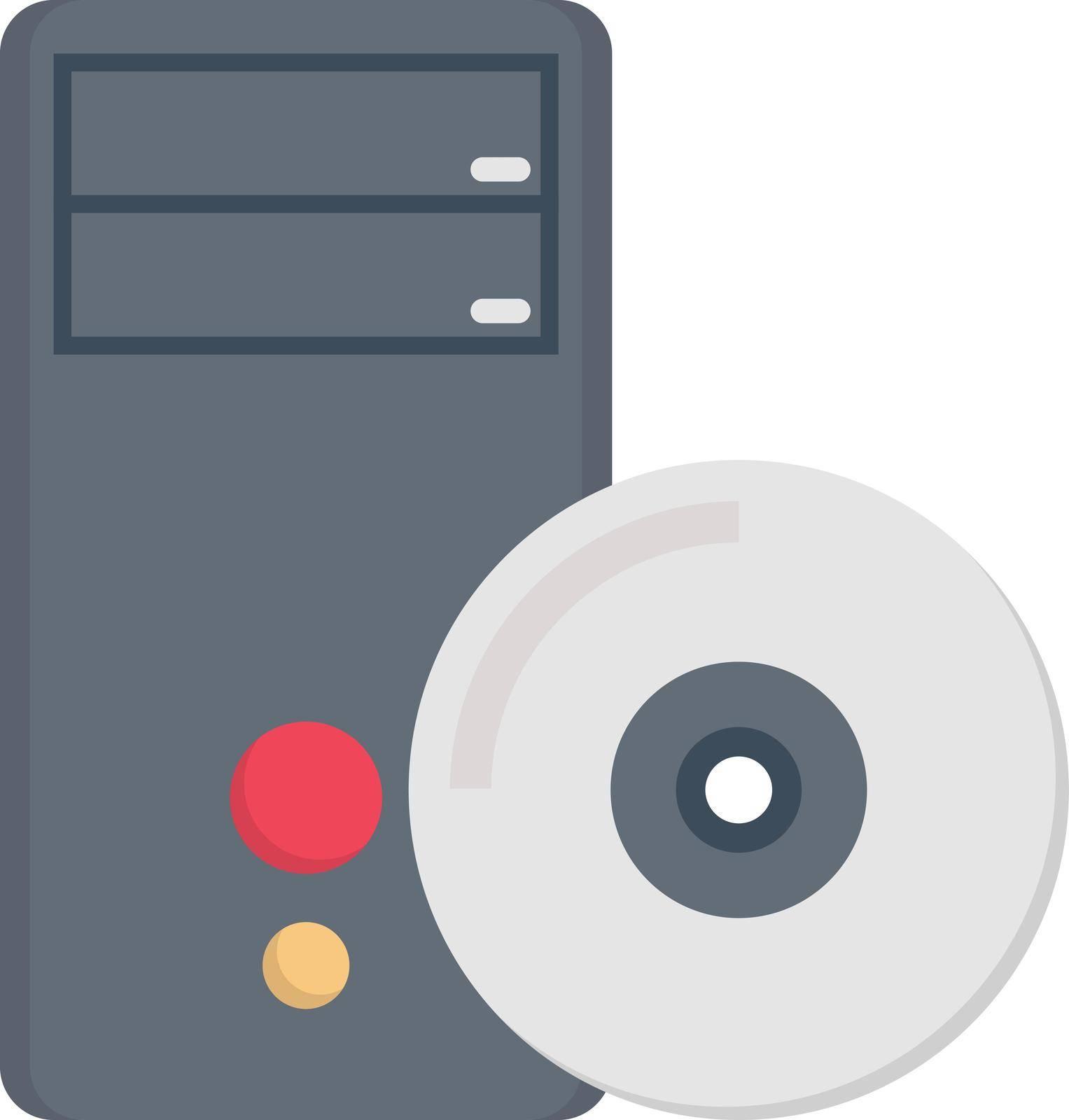 computer vector colour flat icon