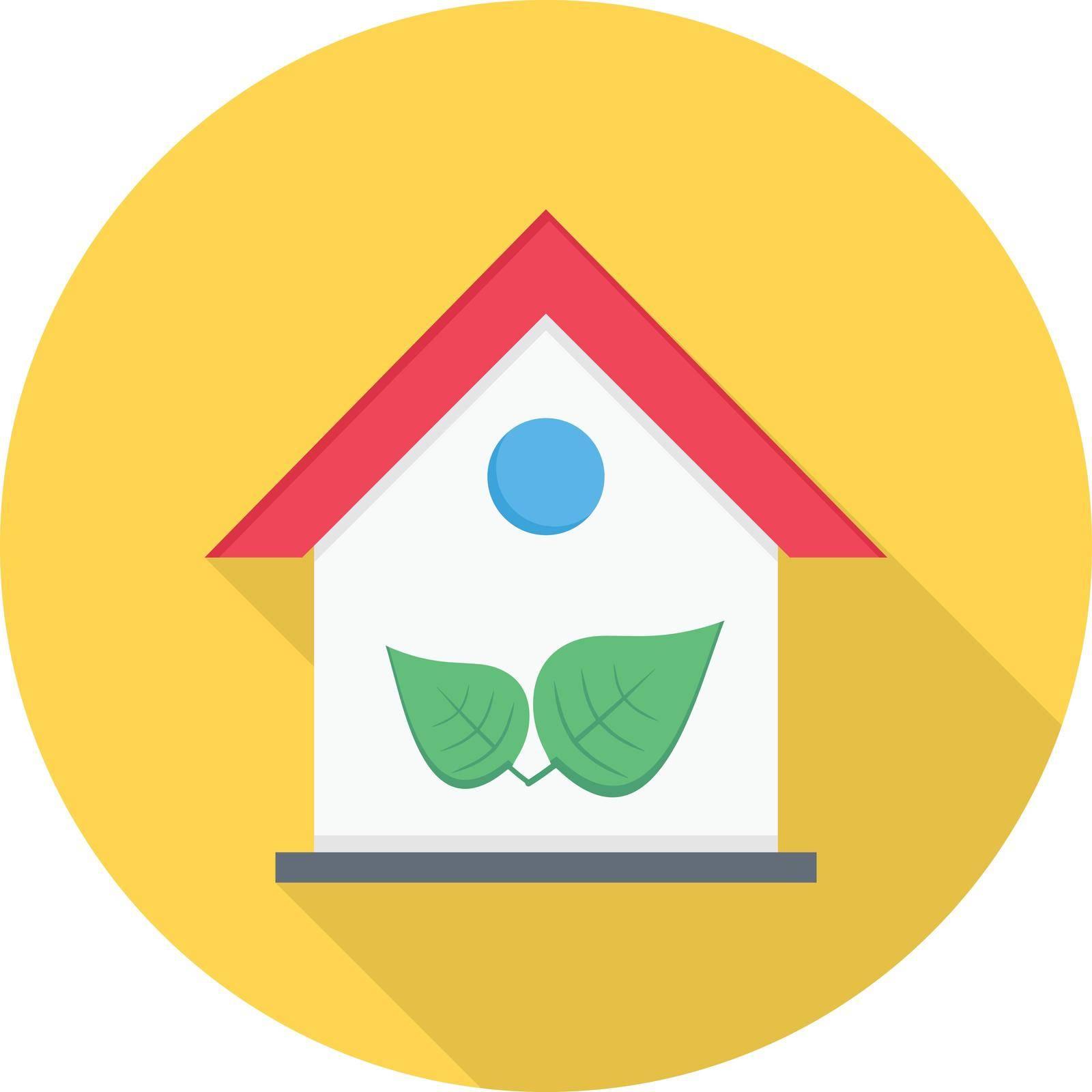 green vector colour flat icon