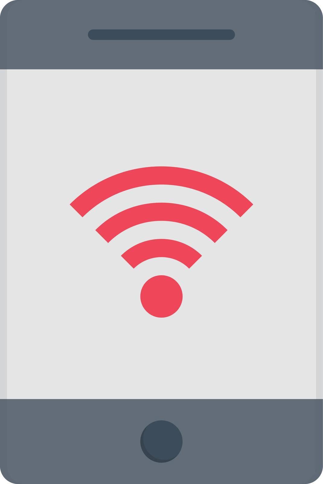 internet vector flat color icon