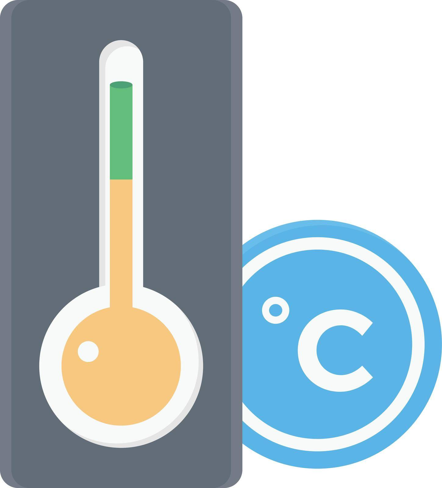 temperature Celsius vector flat colour icon