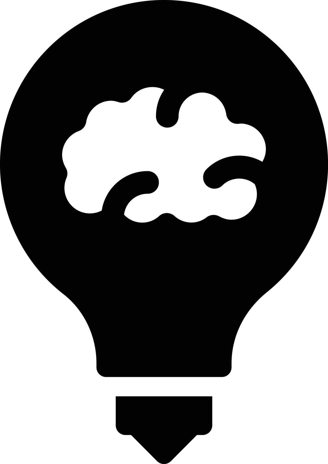 creative vector glyph flat icon