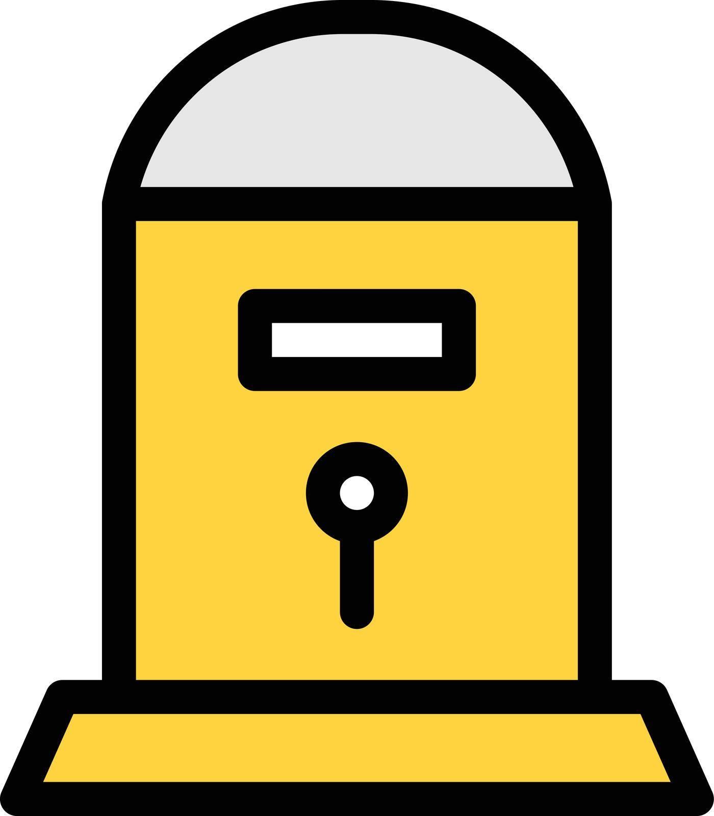letter vector colour line icon