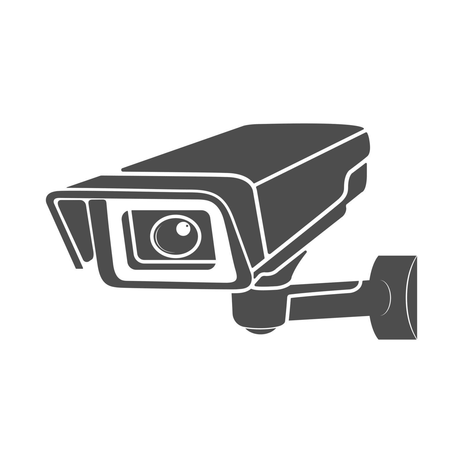 Video surveillance icon. Video camera icon, flat style.