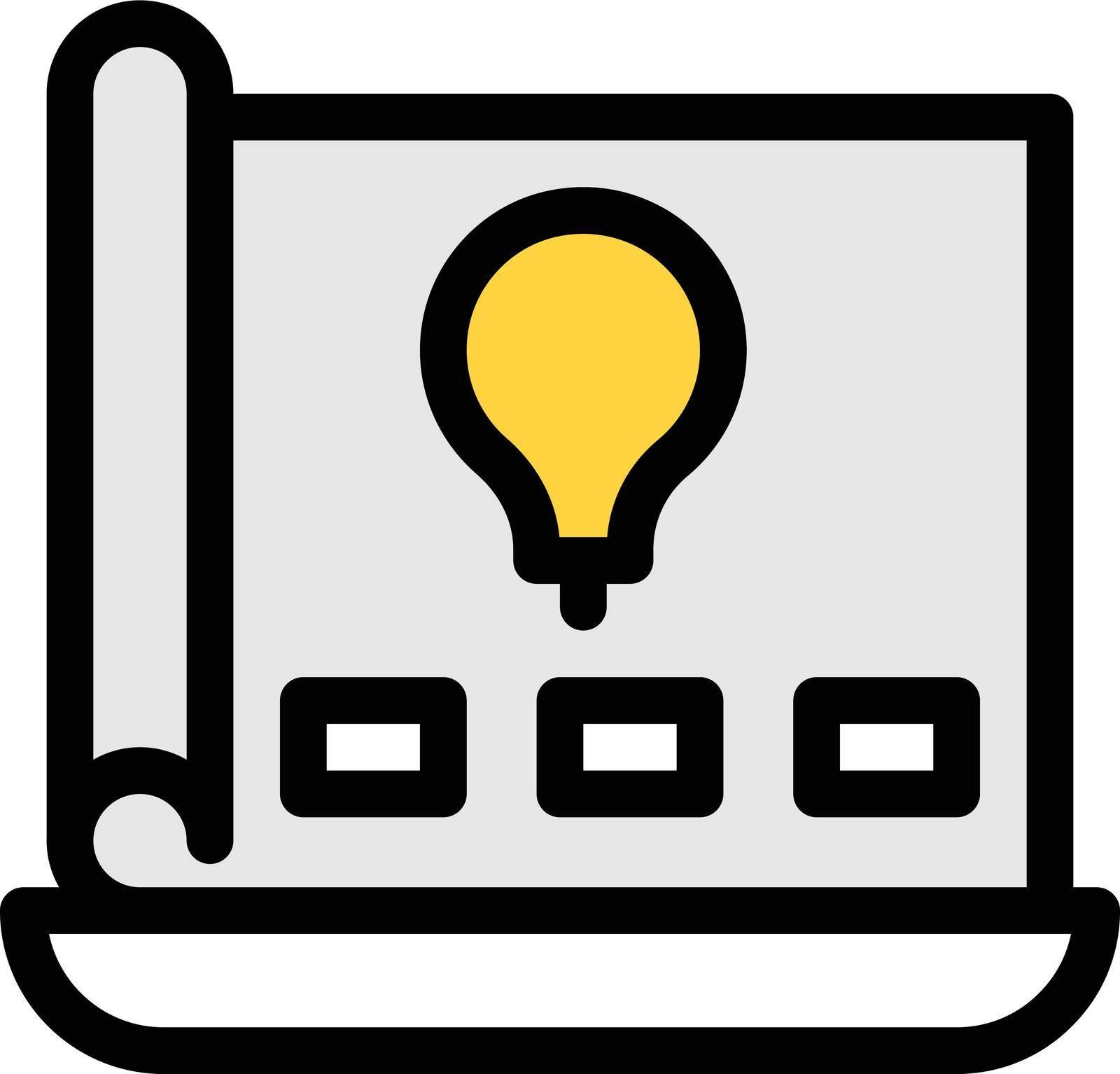 project vector colour line icon
