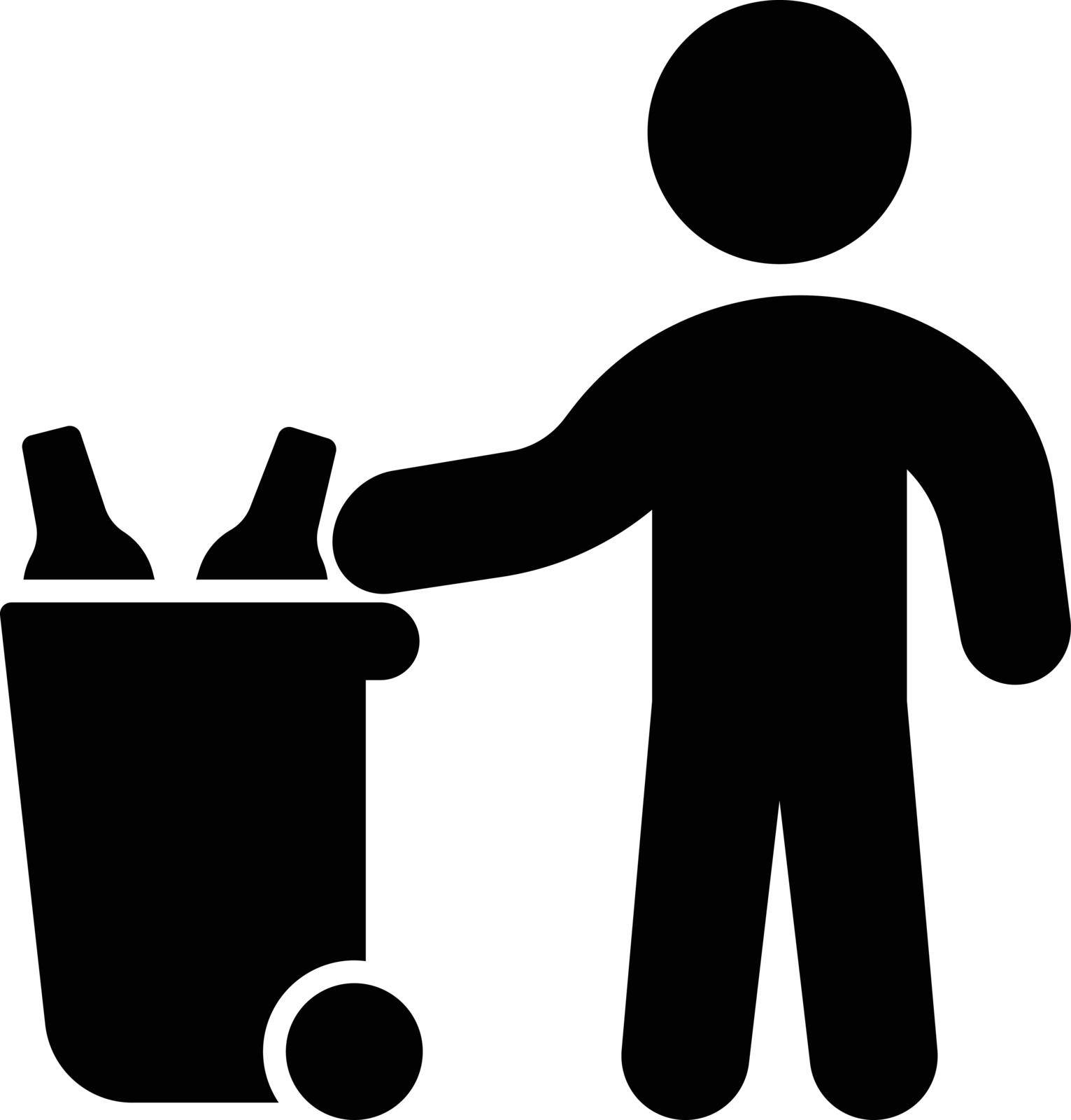 garbage vector glyph flat icon