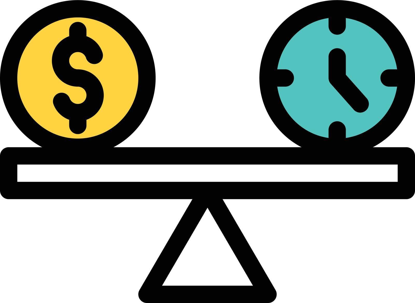 business vector line colour icon