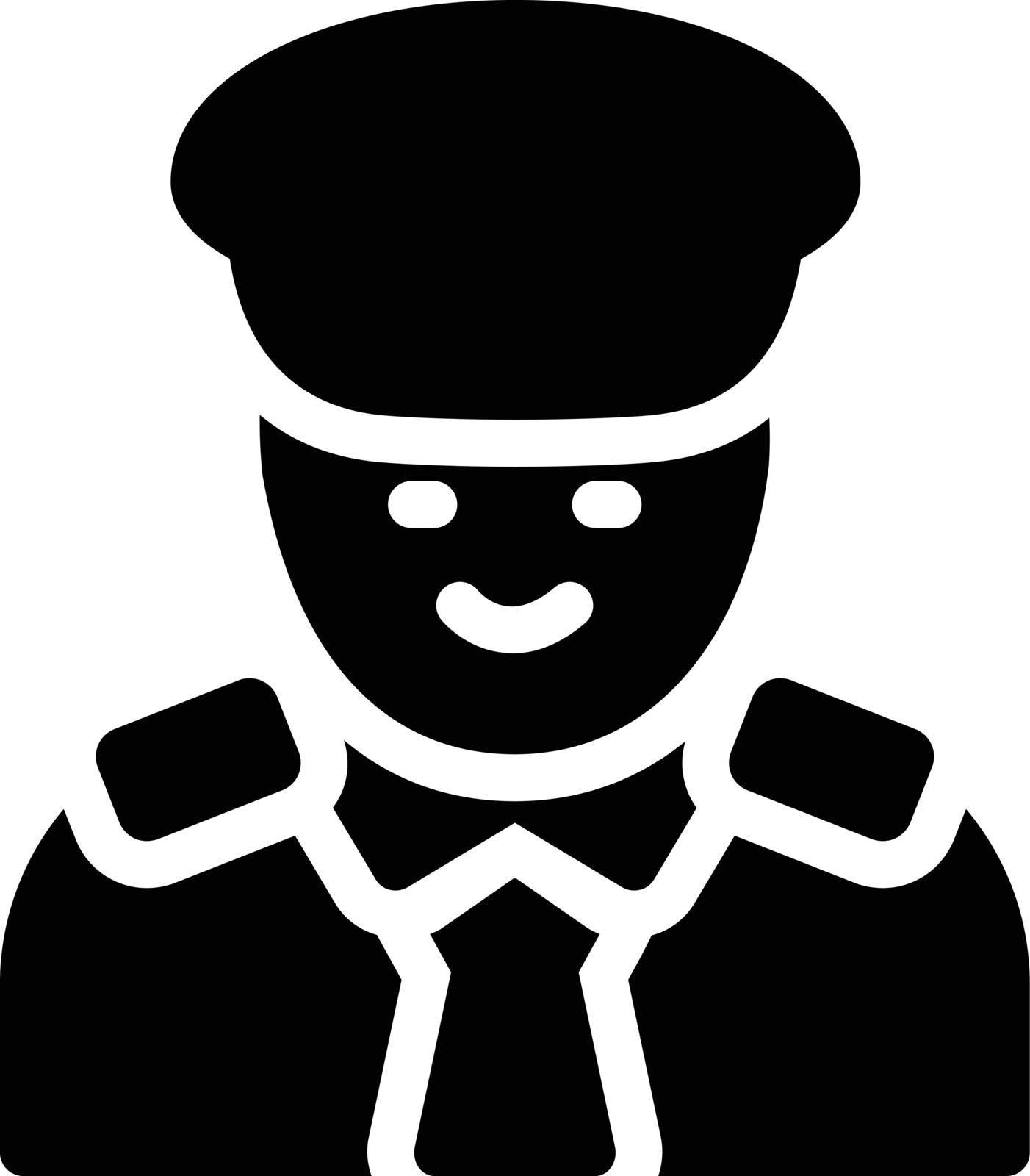 guard vector glyph flat icon