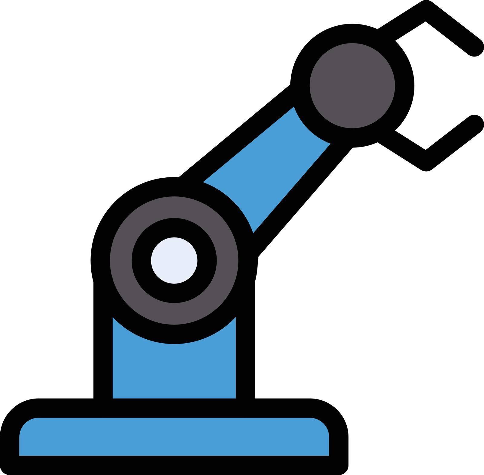 machine vector colour line icon