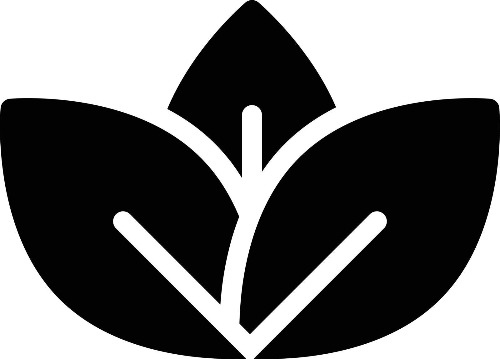green vector glyph flat icon
