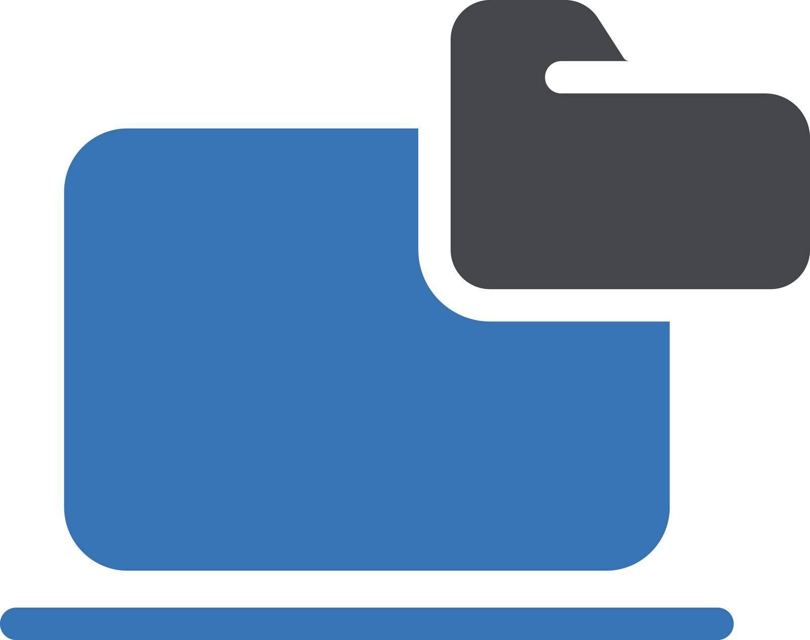 computer vector glyph colour icon