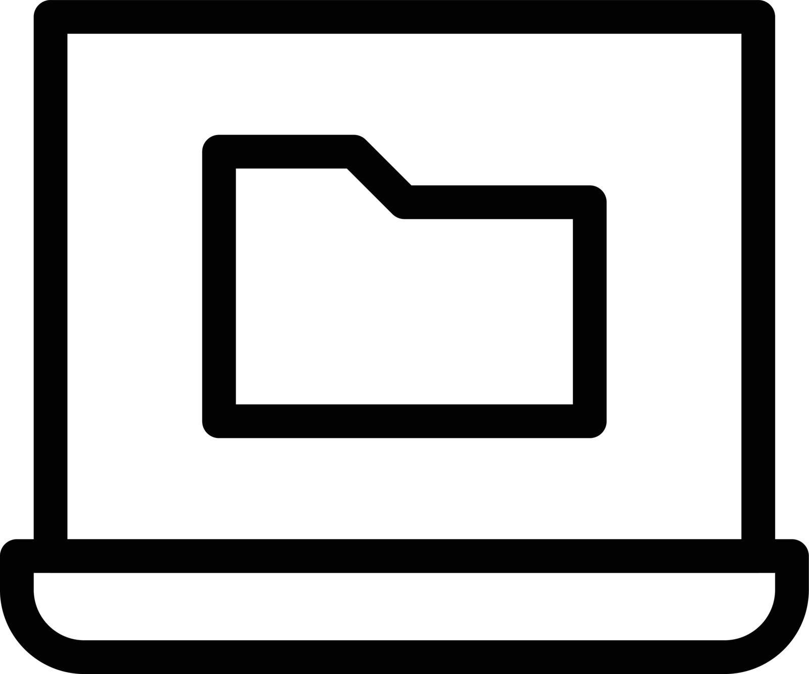 computer vector thin line icon