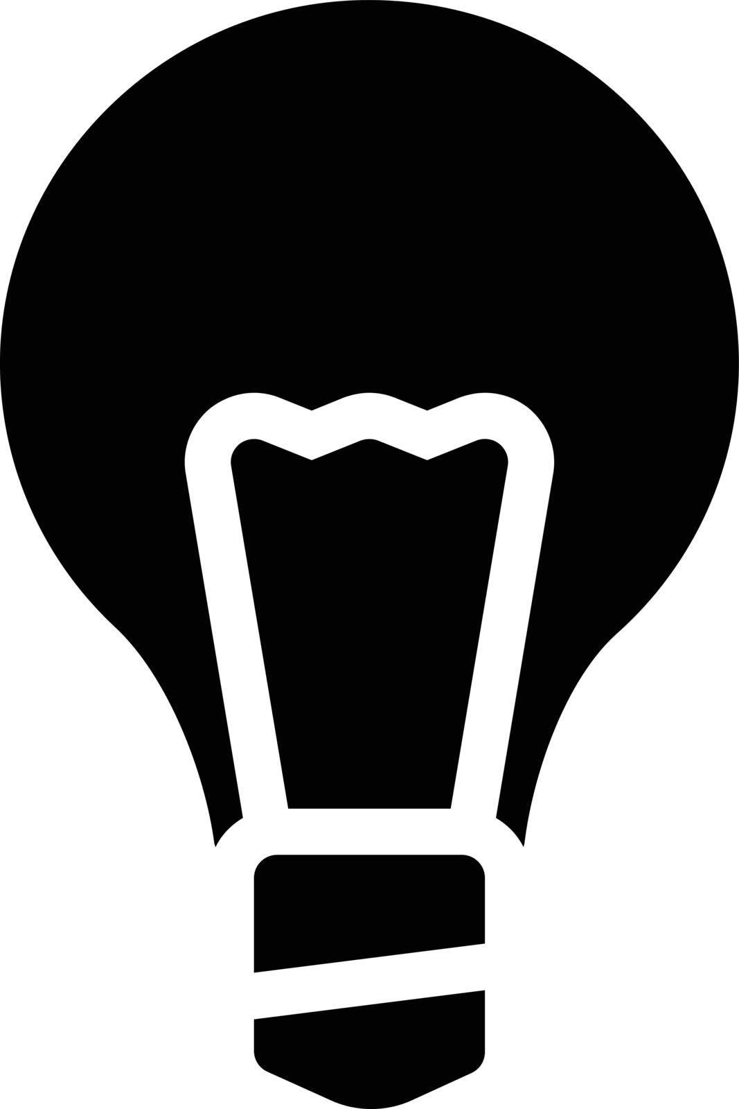 light vector glyph flat icon