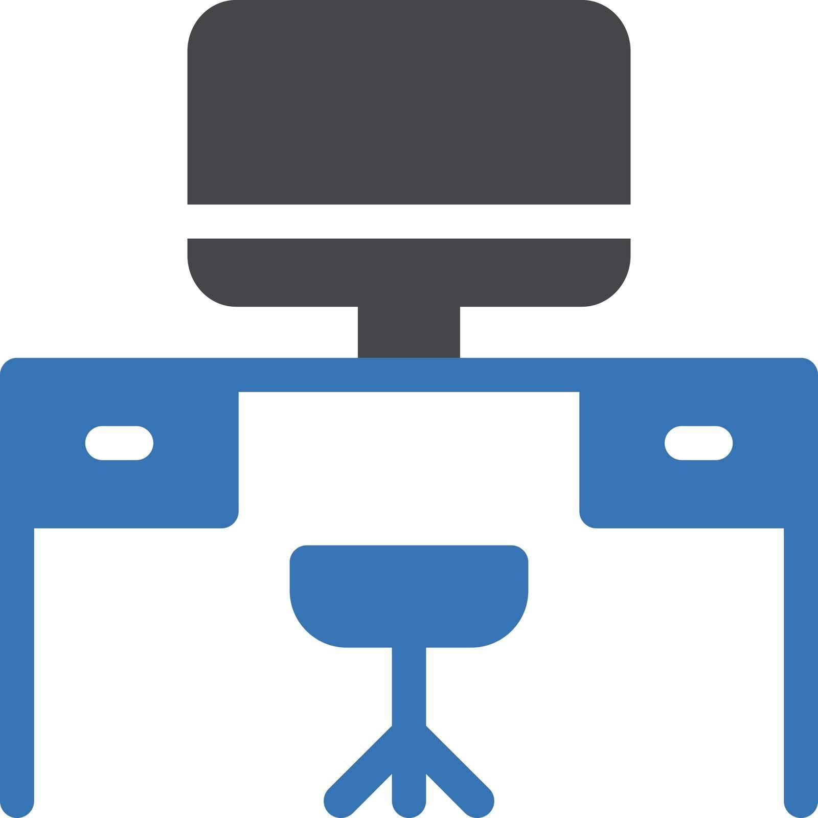 computer vector glyph color icon