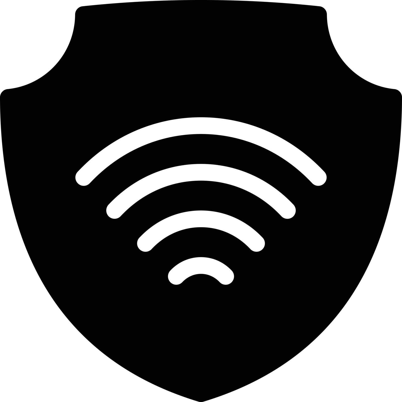 internet vector glyph flat icon