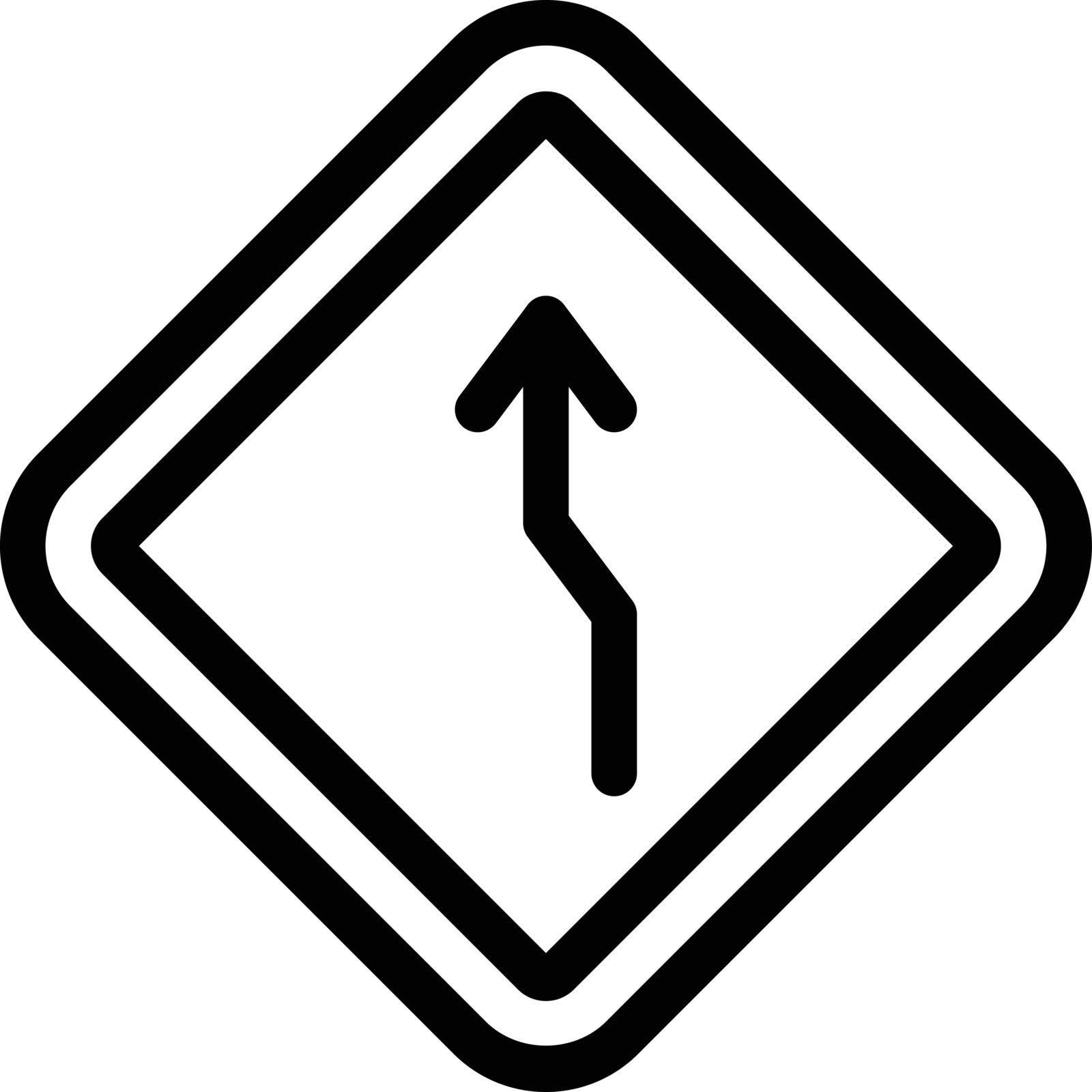 curve vector thin line icon