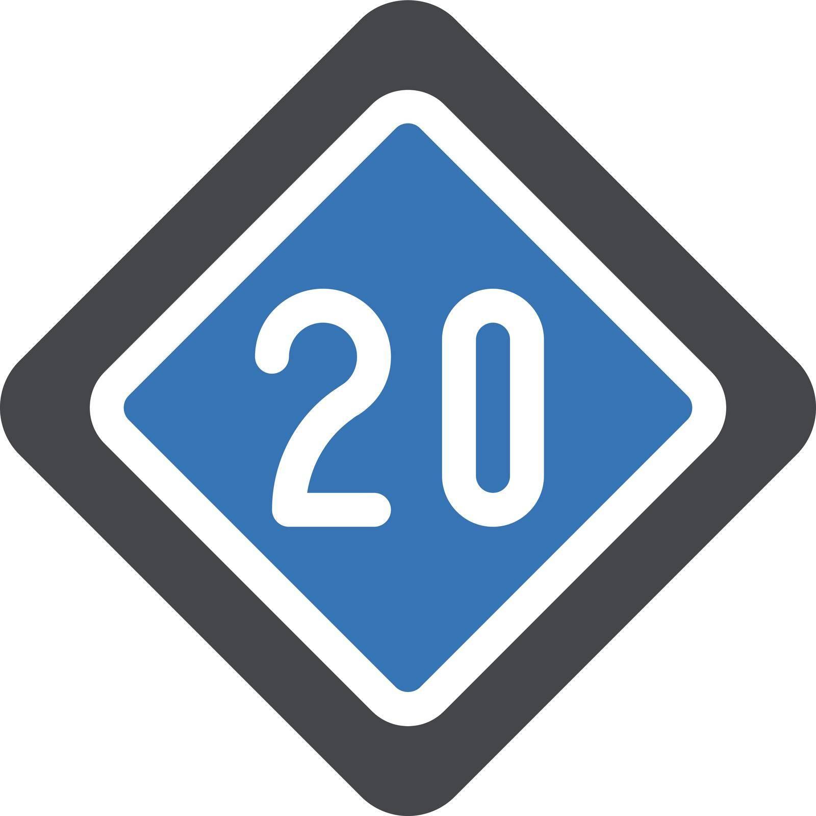 sign vector glyph colour icon