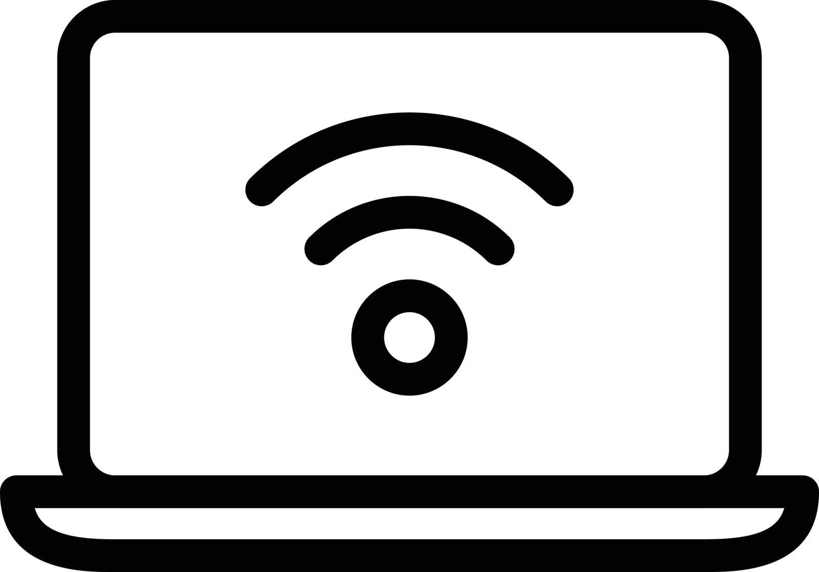 internet vector thin line icon