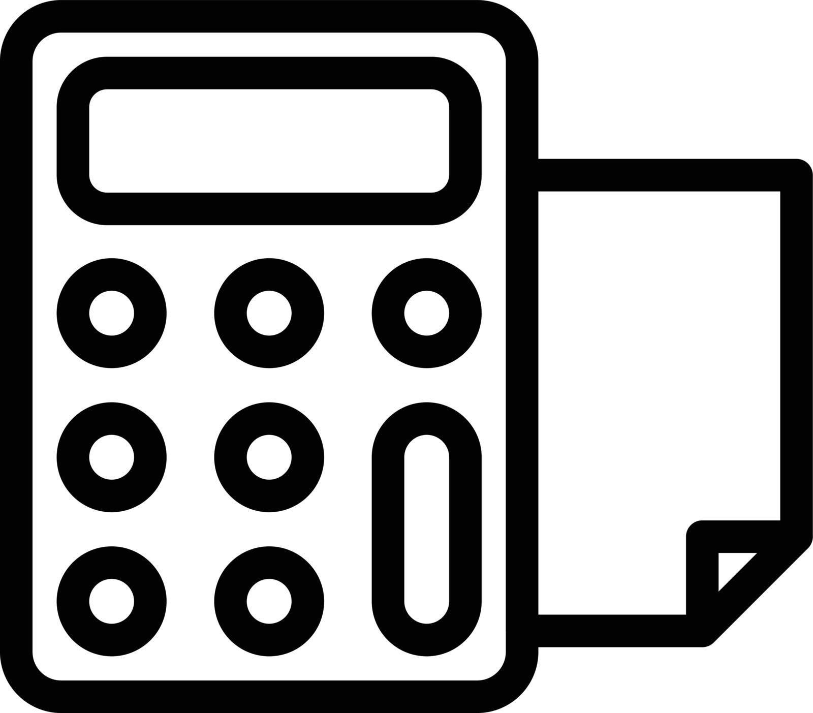 machine vector thin line  icon