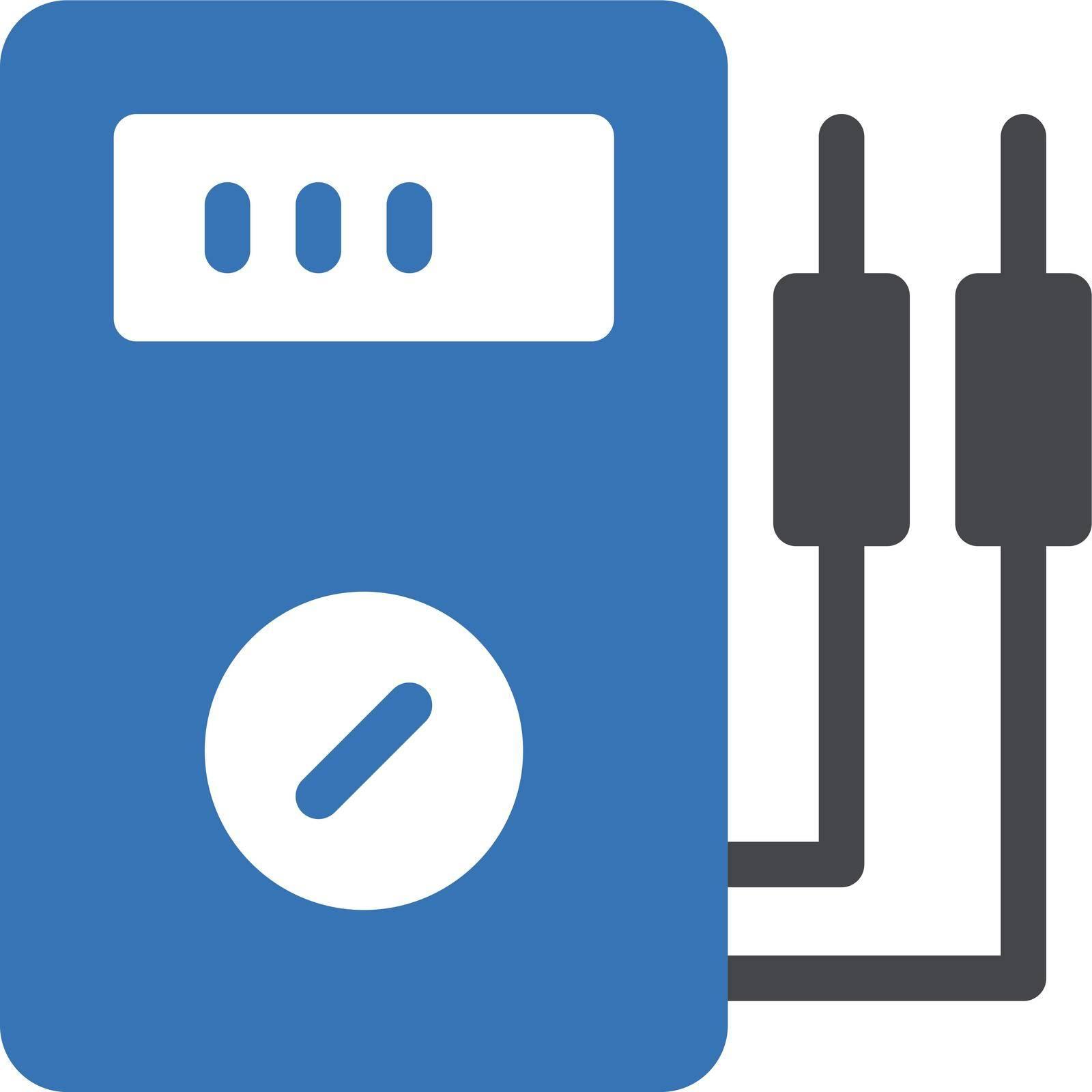 thermometer vector glyph colour icon