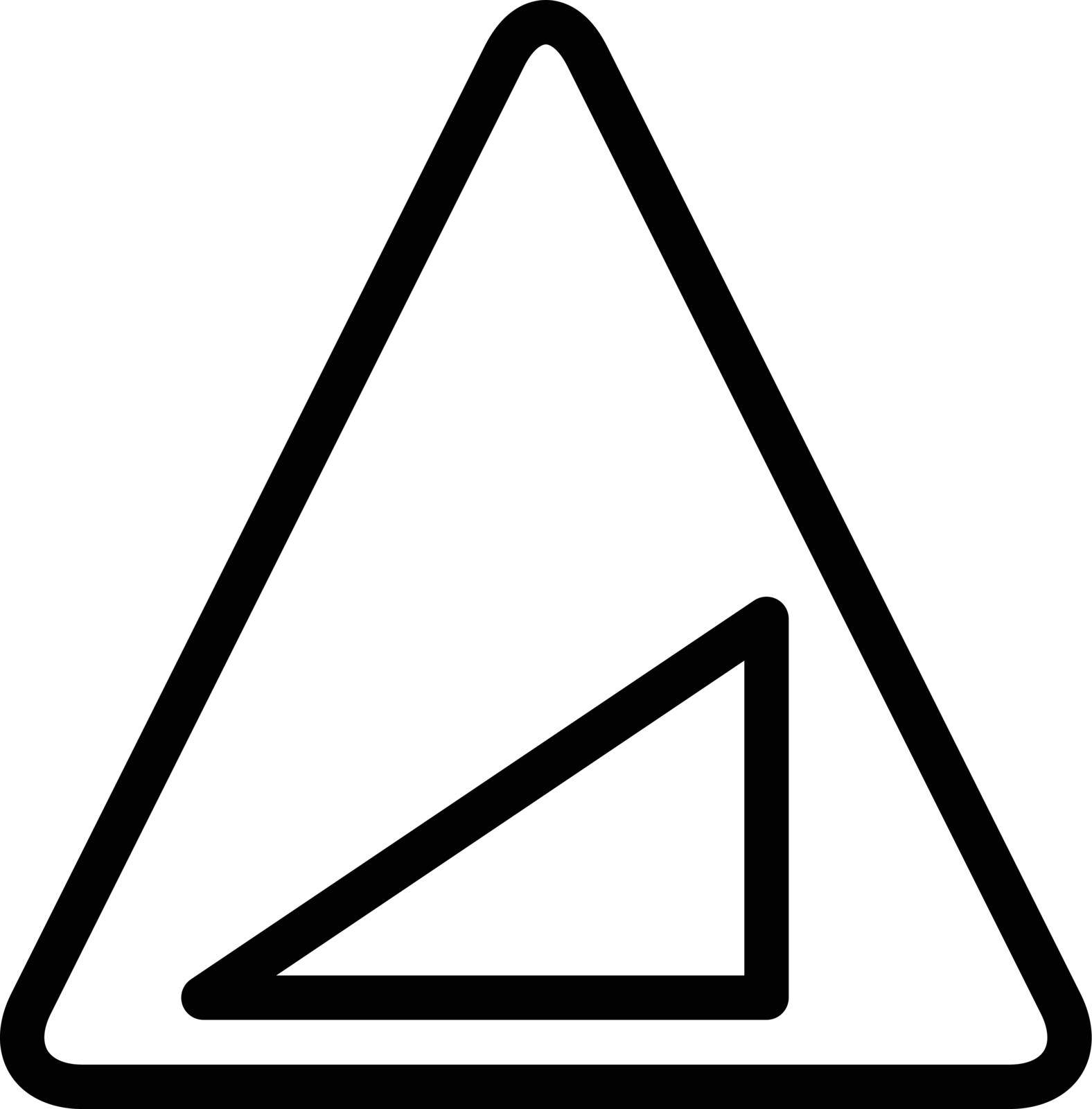 sign vector thin line icon