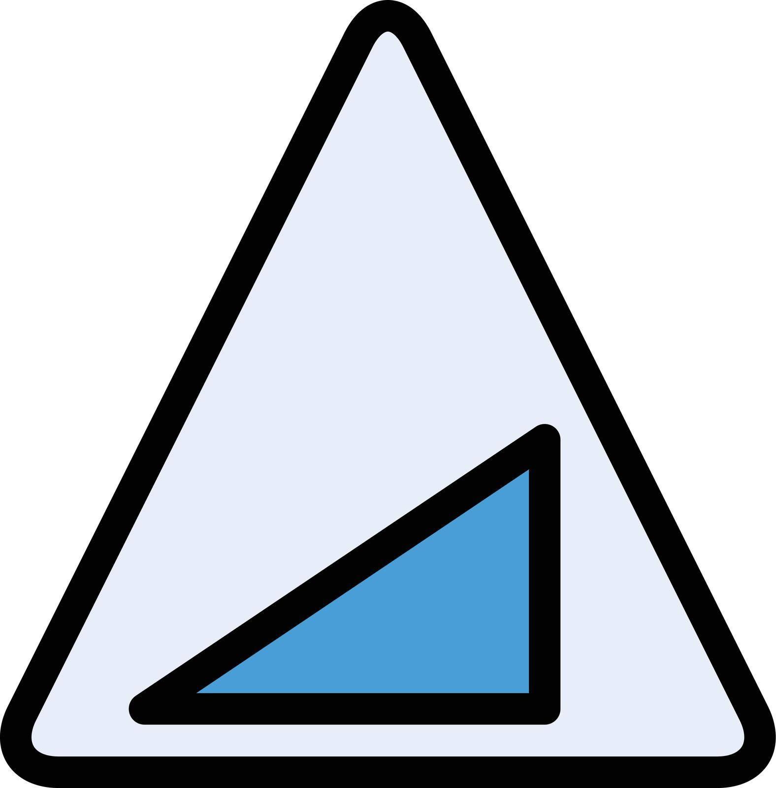 sign vector color line icon
