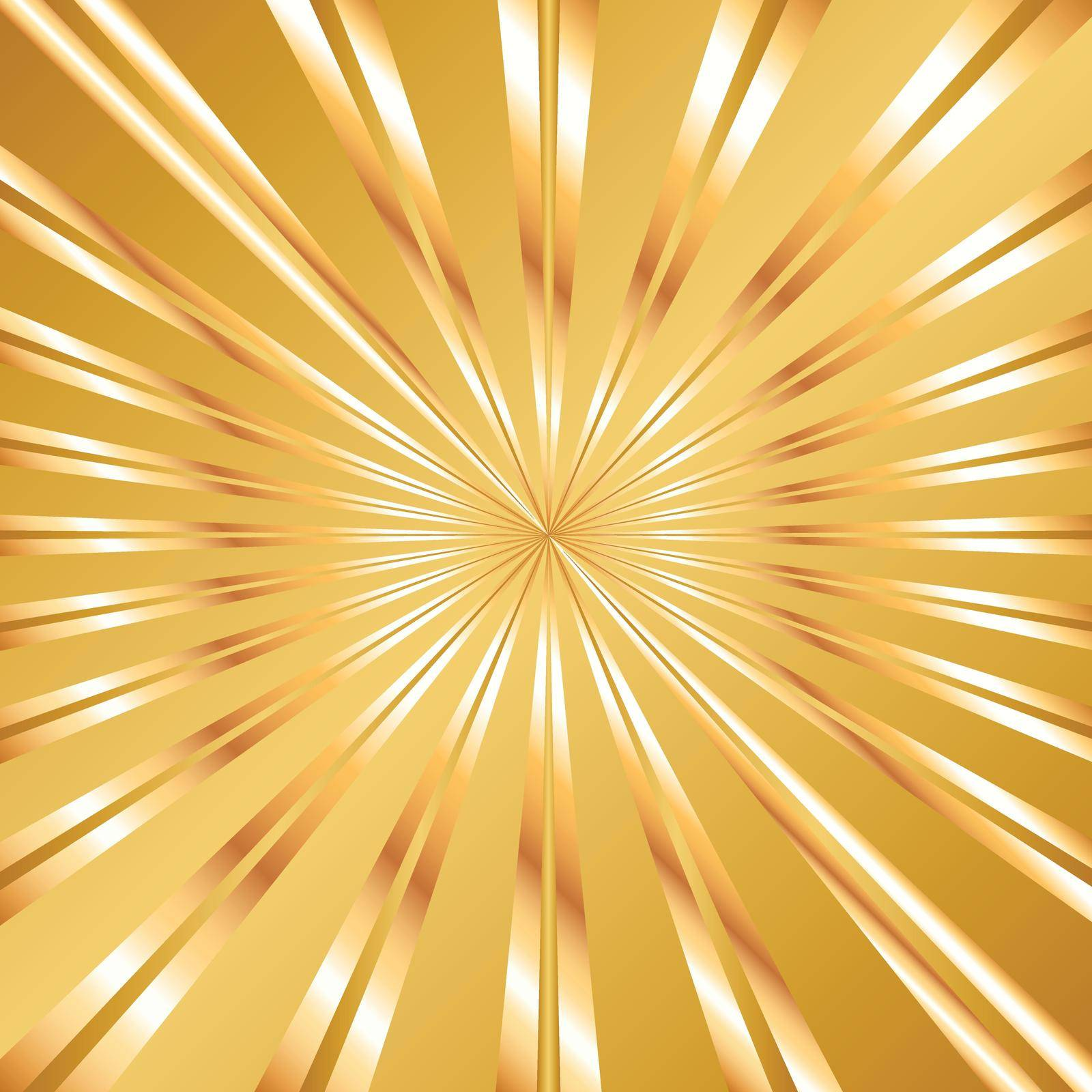 Large square golden ray background