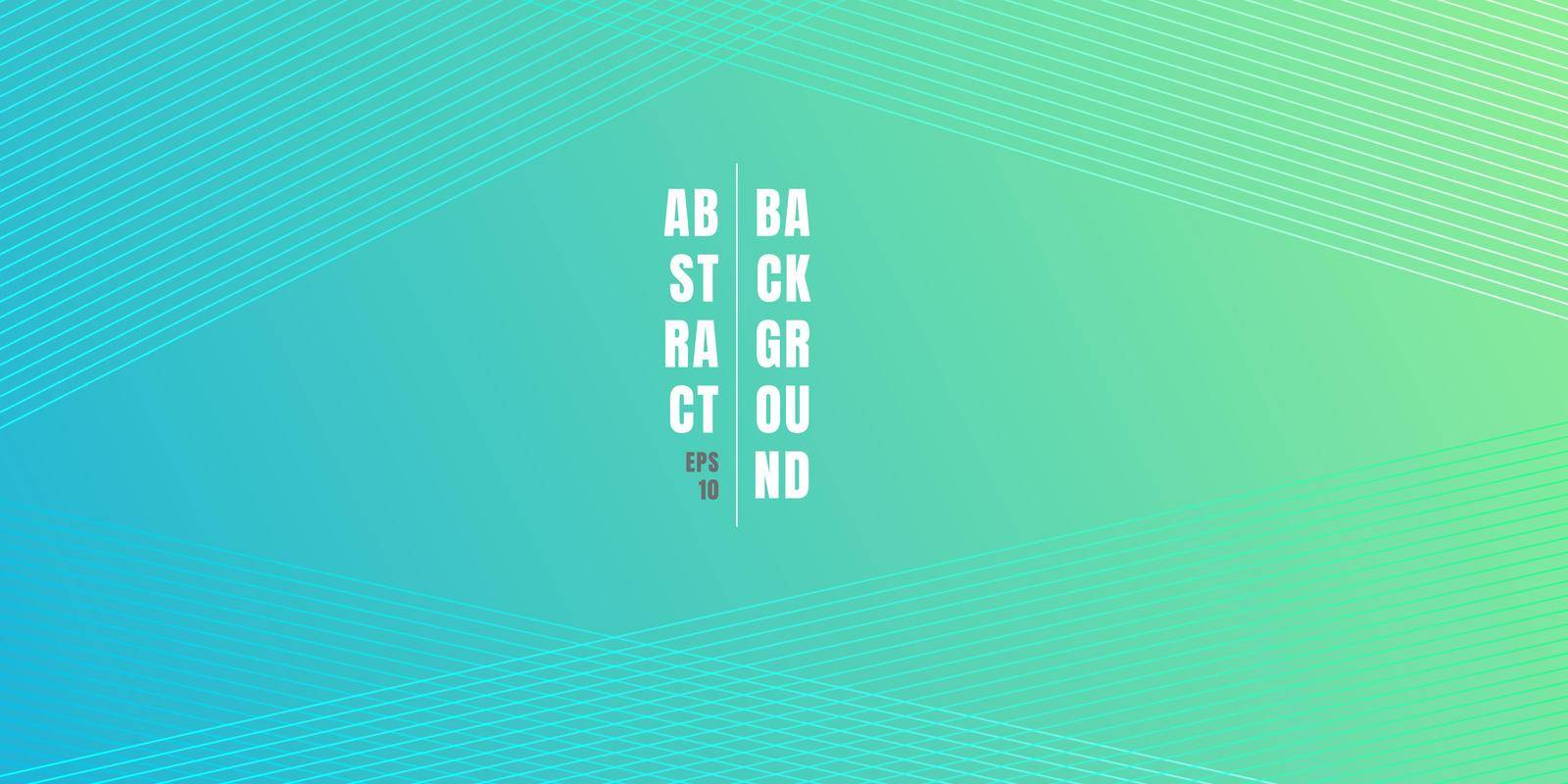 Abstract blue and green vibrant color gradient background with diagonal lines pattern texture. Soft light colored backdrop with place for text. Vector illustration