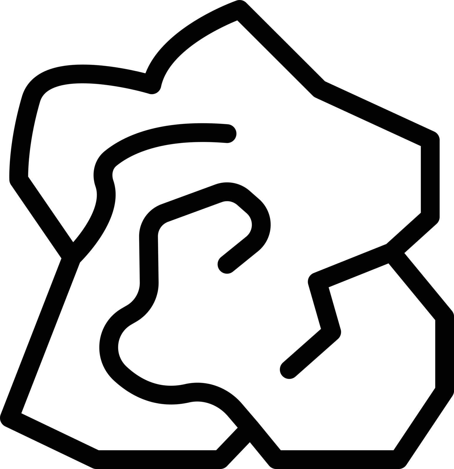 garbage vector thin line icon