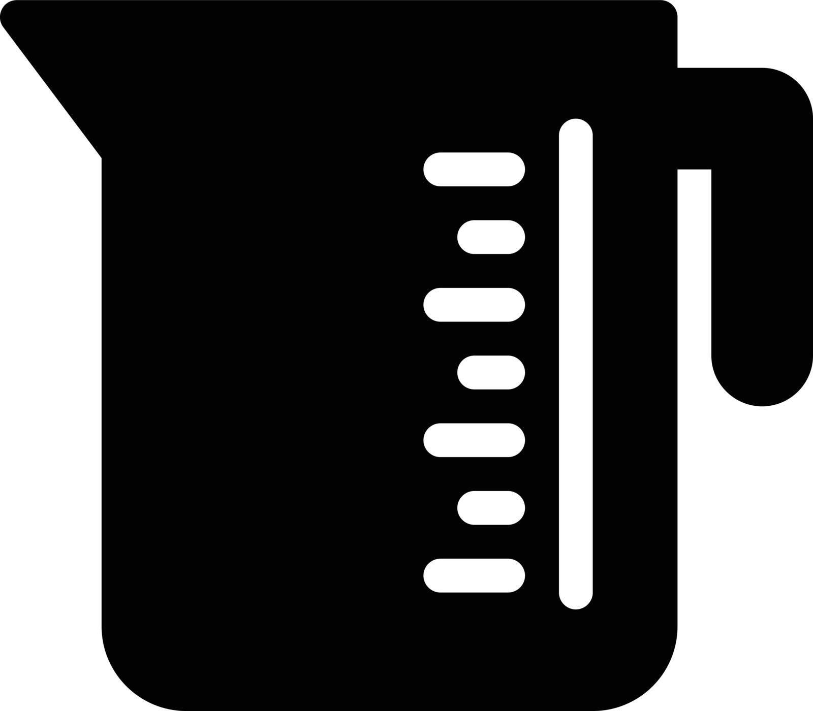 jug measurement vector glyph flat icon