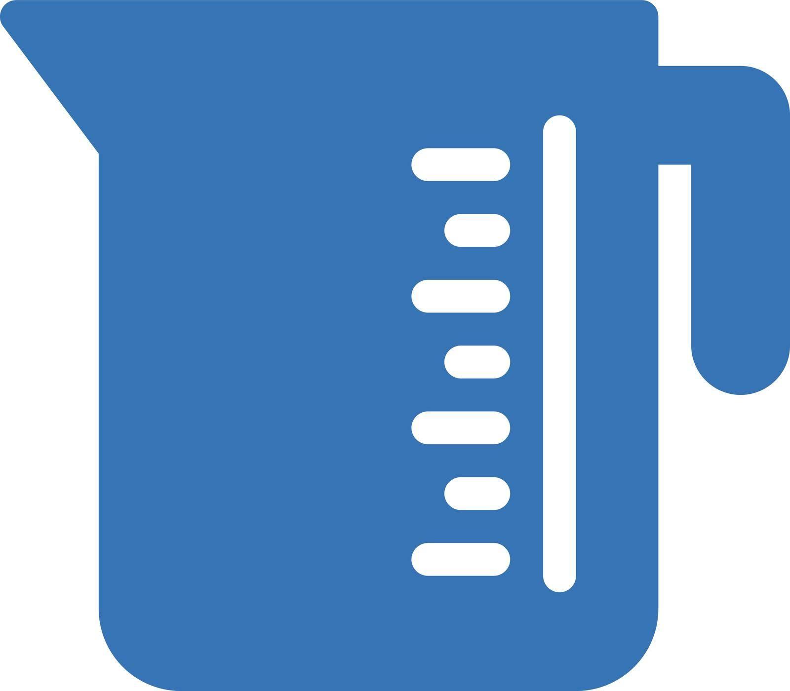 jug measurement vector glyph colour icon