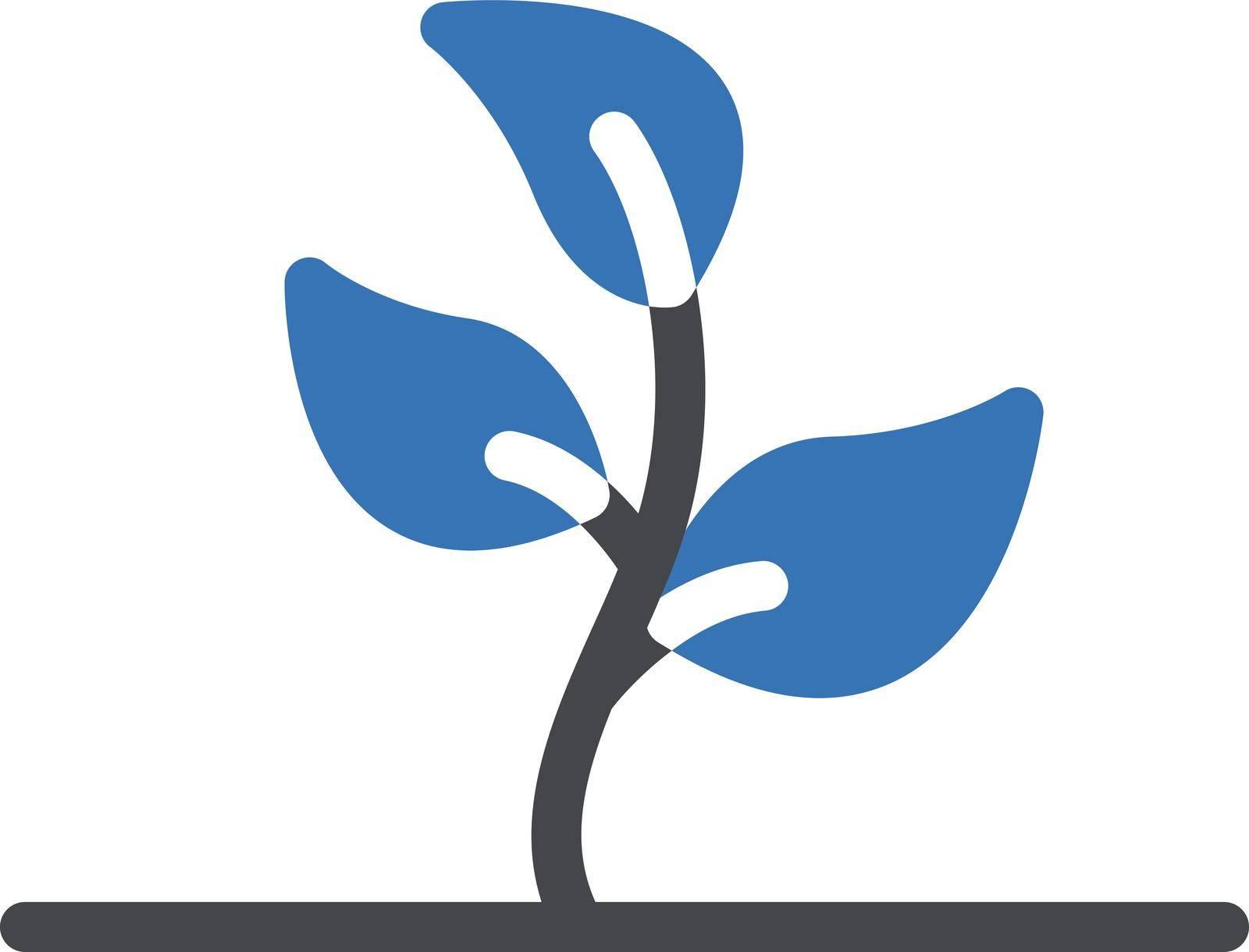 plant vector glyph colour icon