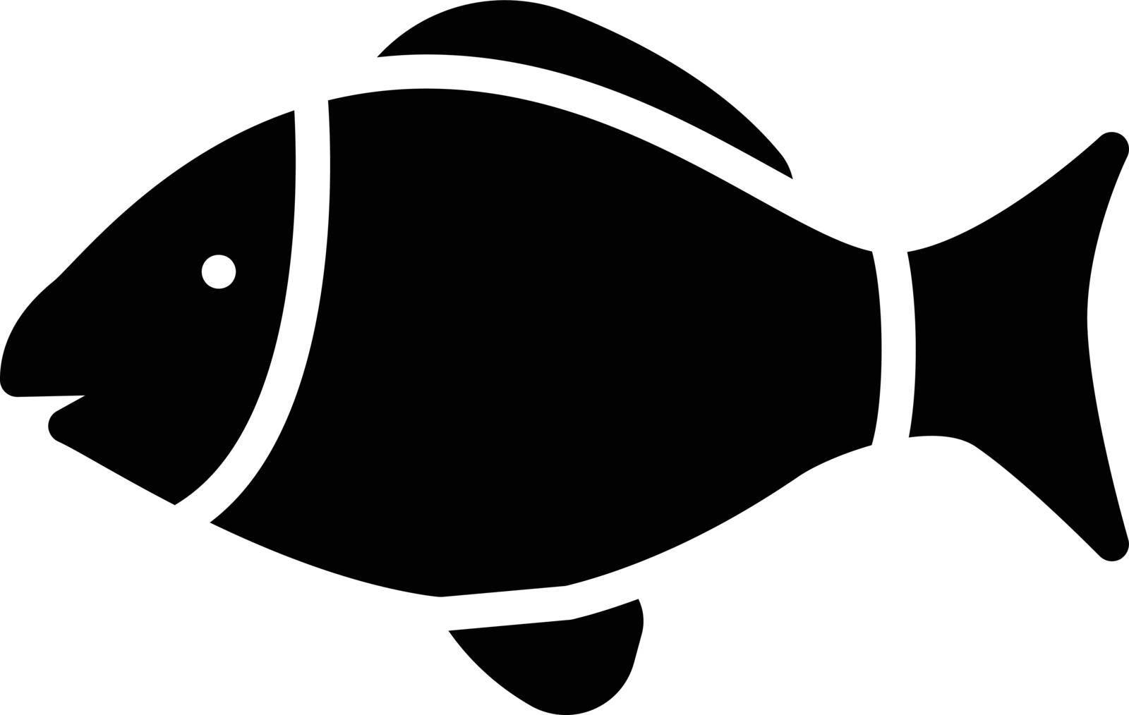 fish vector glyph flat icon