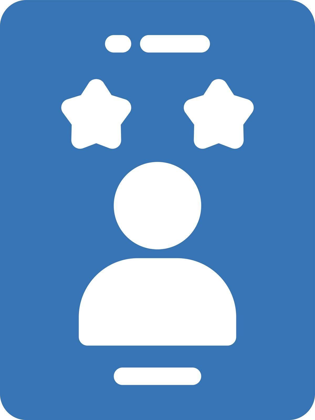 review vector glyph color icon