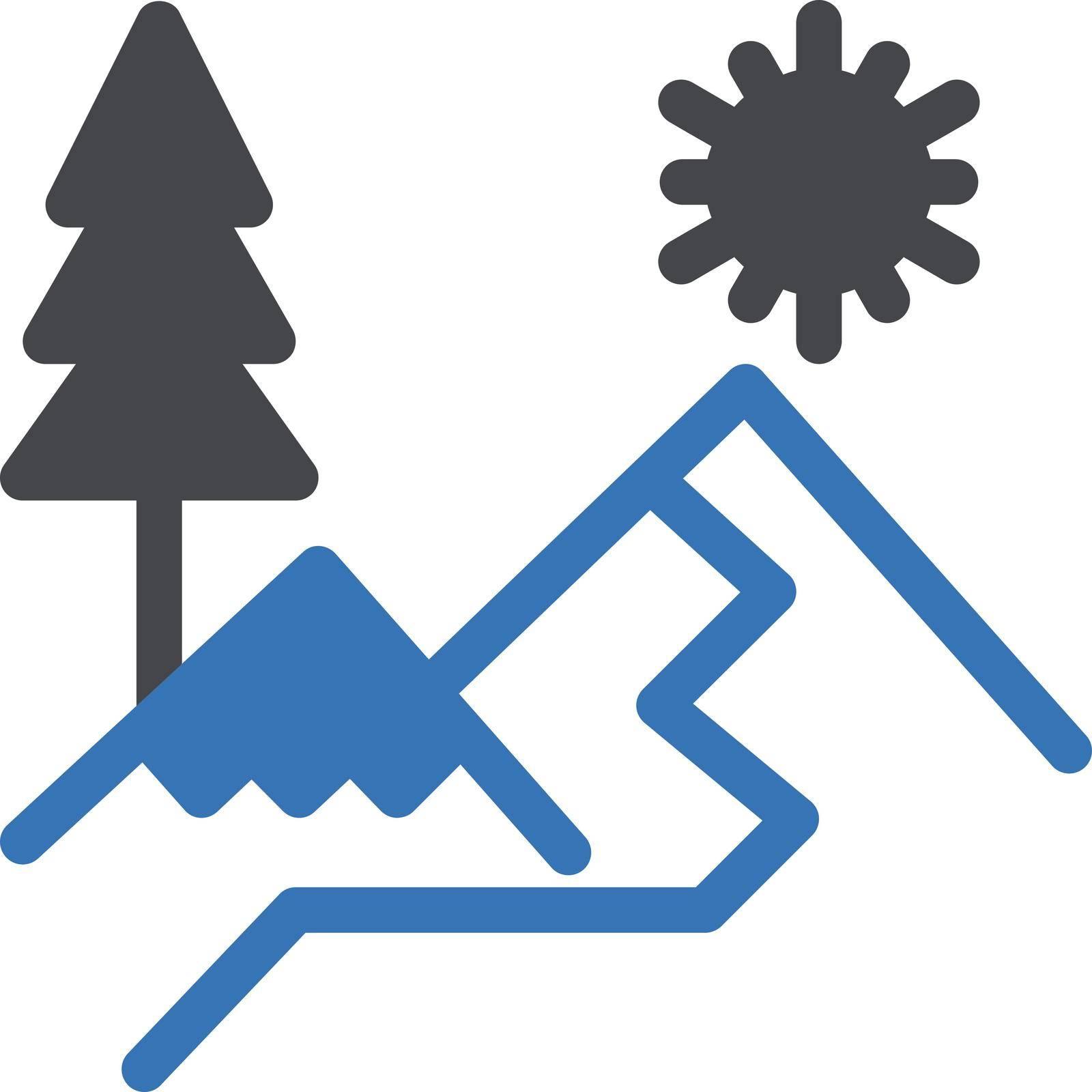 nature vector glyph colour icon