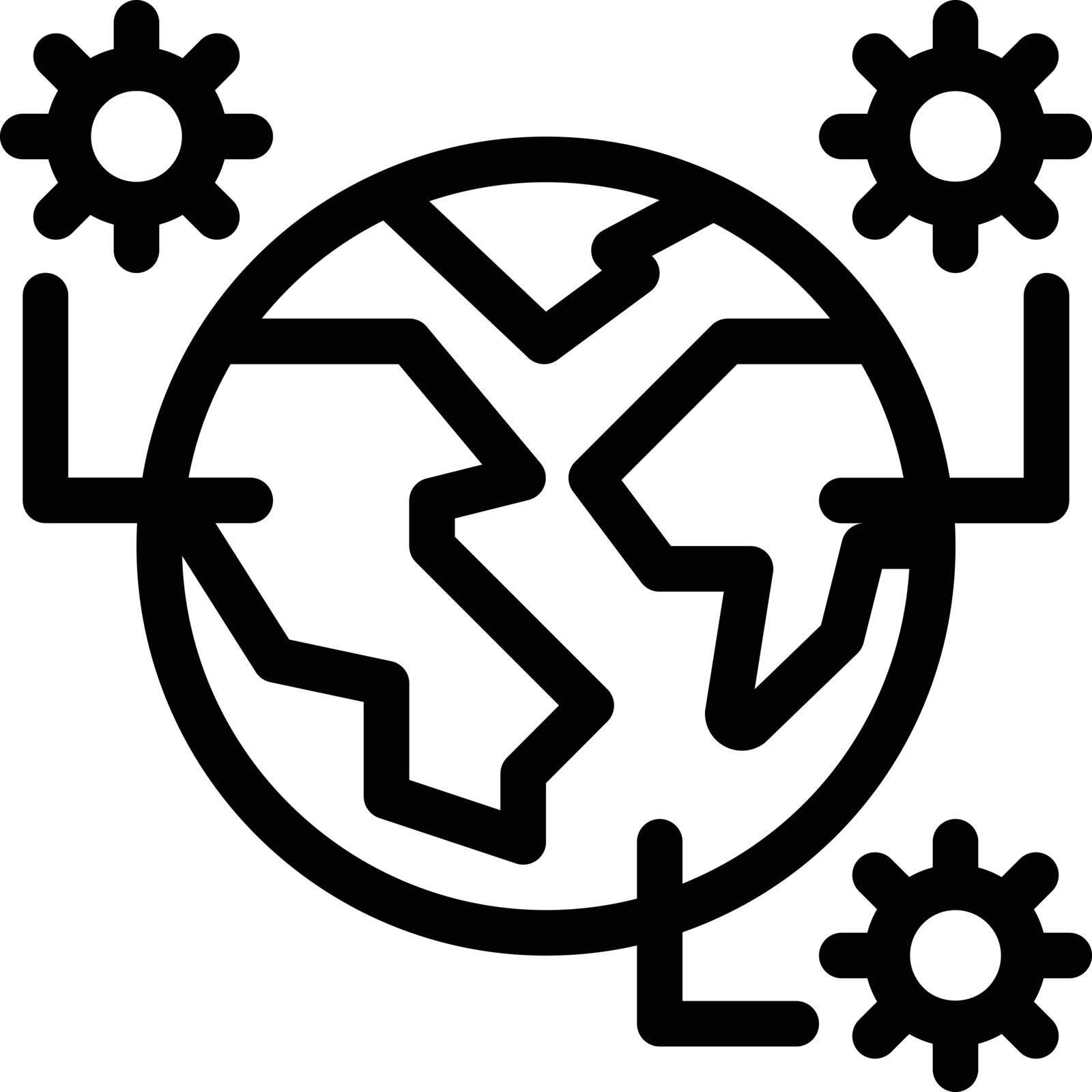 covid vector thin line icon