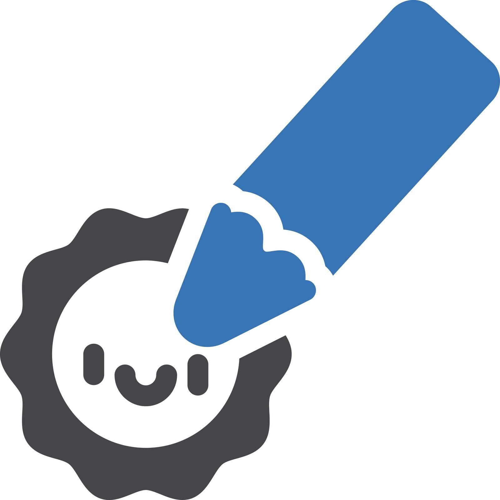 drawing vector glyph color icon
