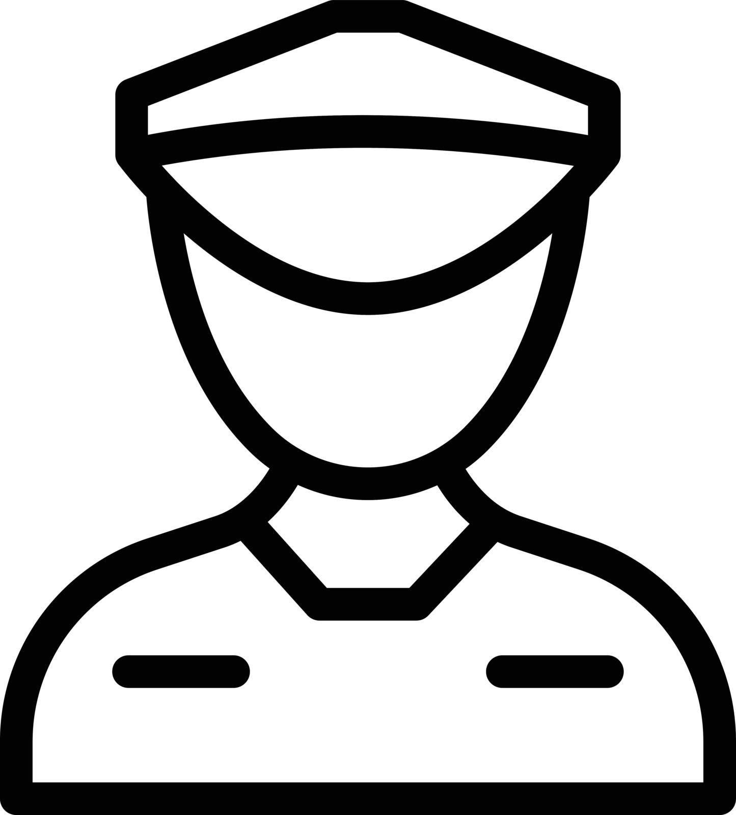 guard vector thin line icon