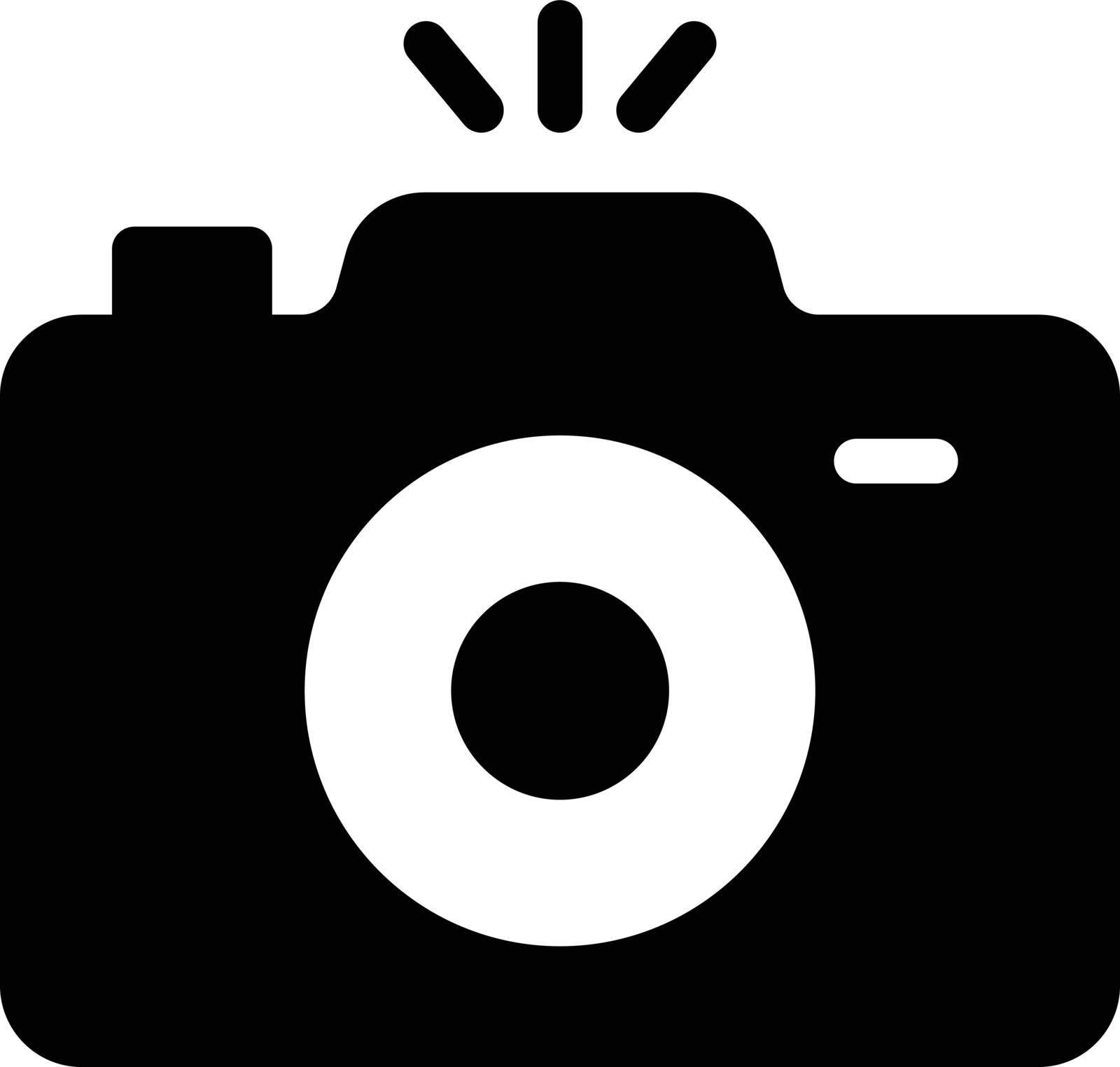 camera vector glyph flat icon