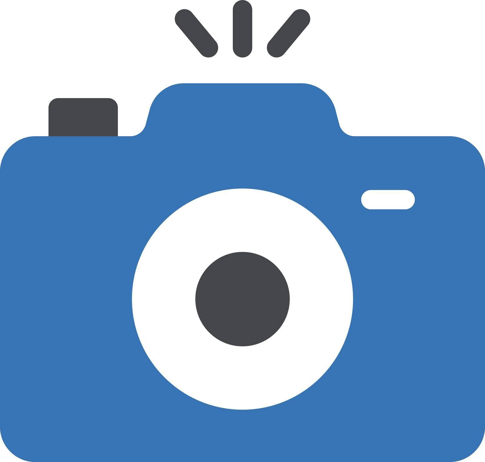 camera vector glyph colour icon