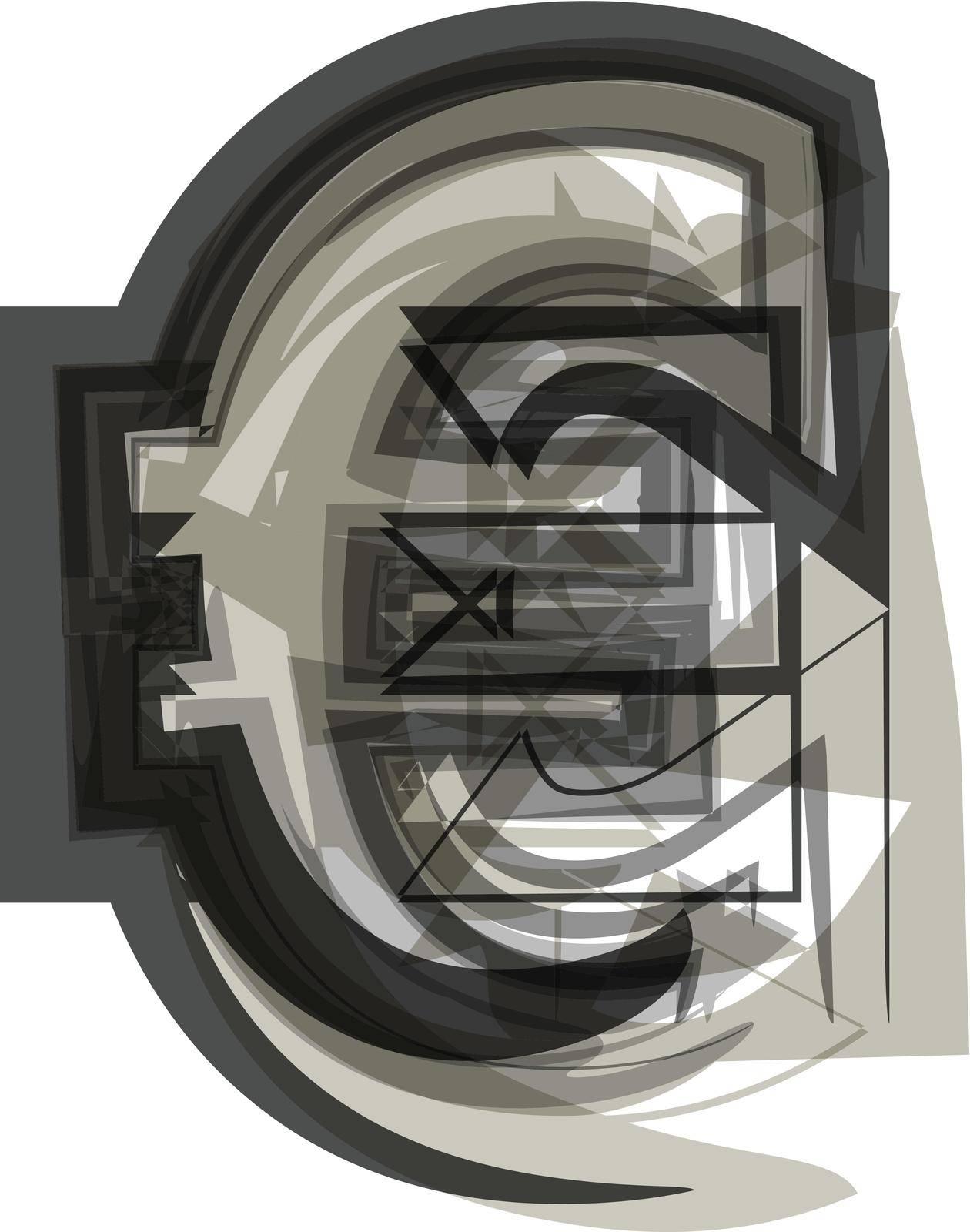 Abstract Euro Symbol illustration