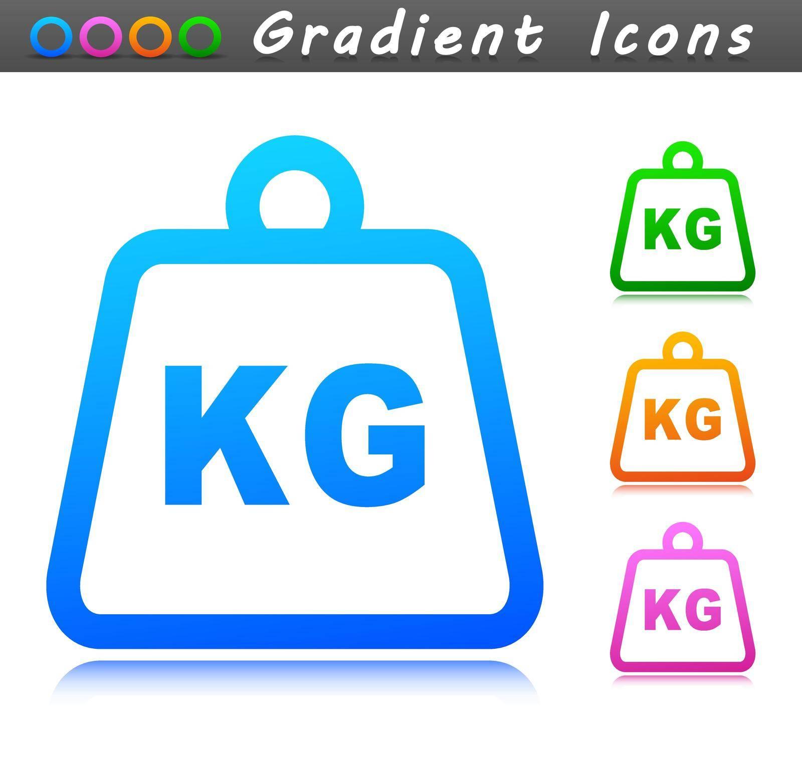 Vector illustration of weight symbol icon design