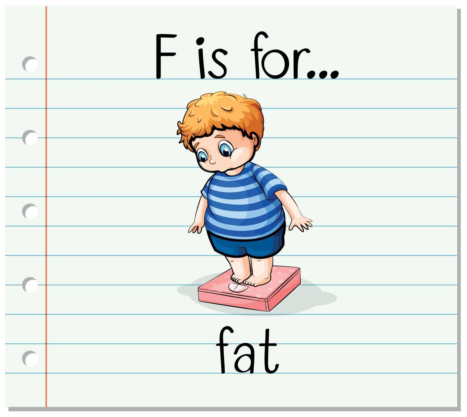 Flashcard letter F is for fat by iimages
