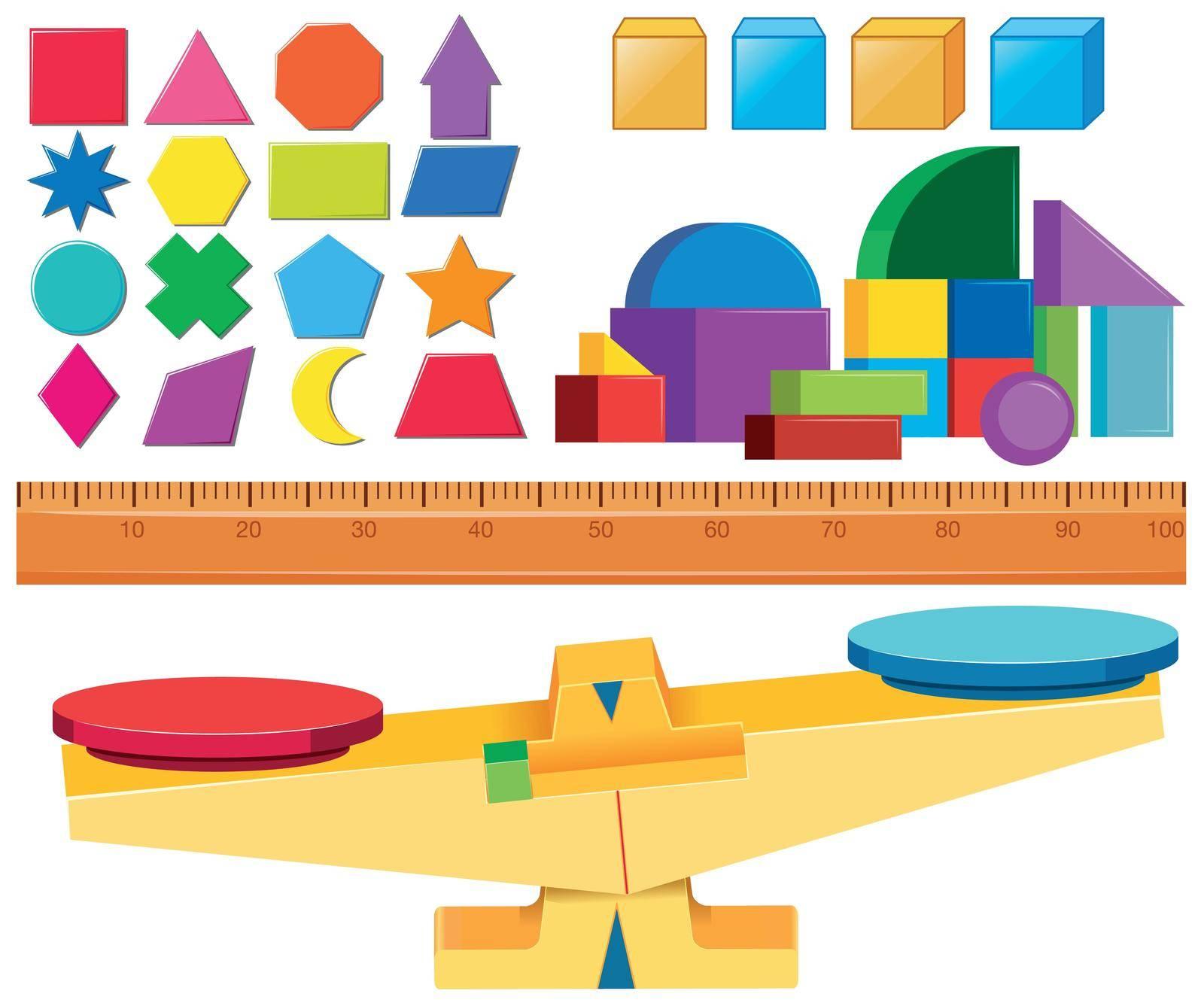 Set of measurement scale  illustration