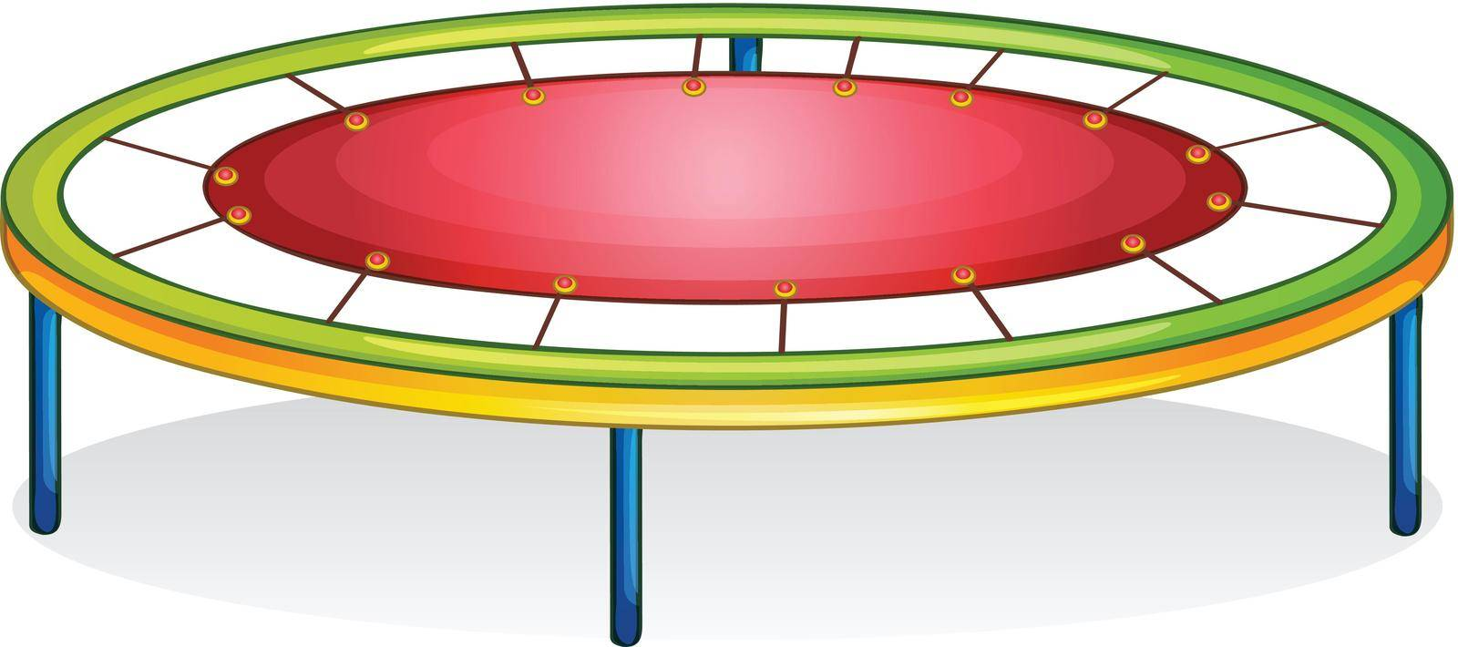 Isolated illustration of play equipment - trampoline
